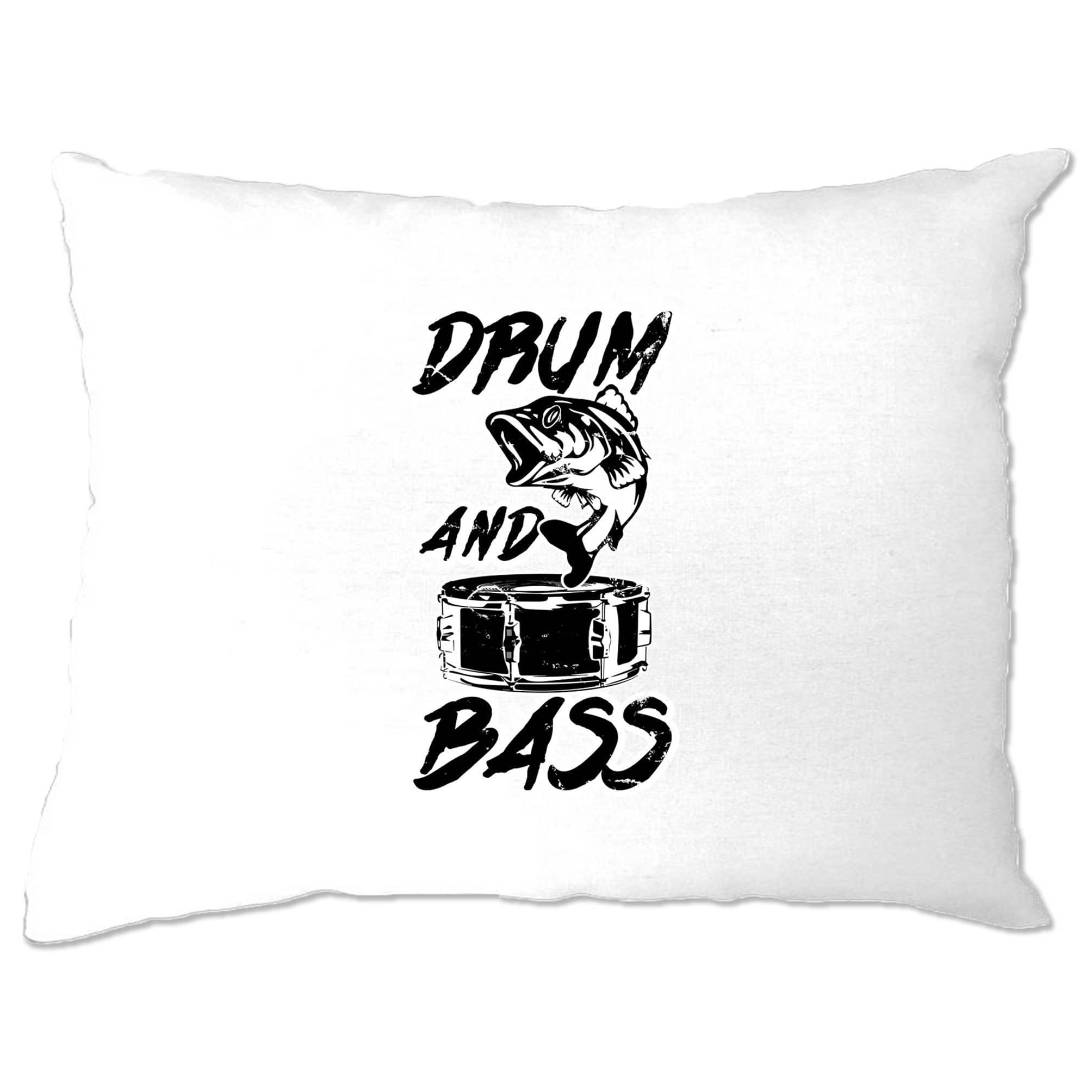 Novelty Music Pillow Case Drum And Bass Fish Slogan