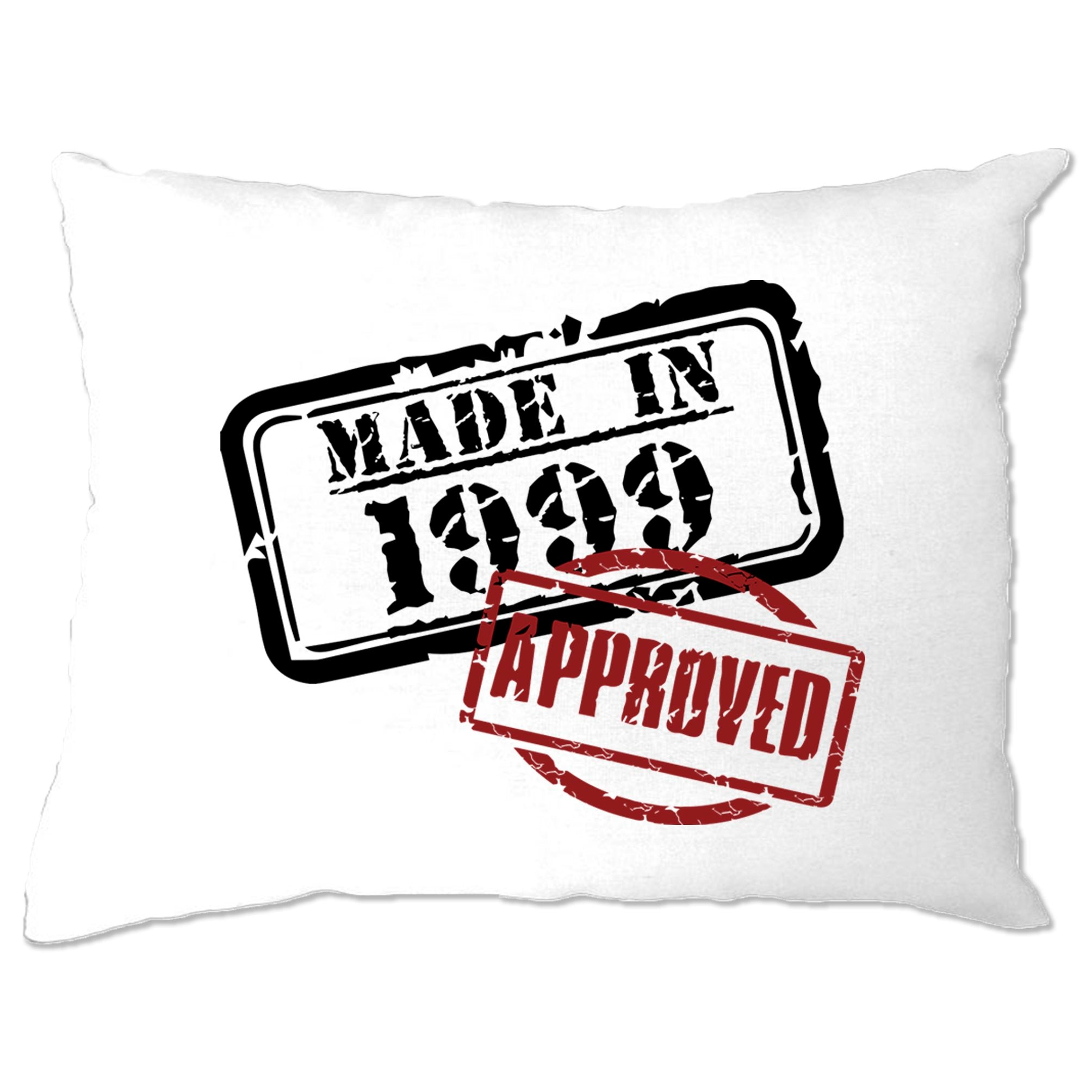 21st Birthday Pillow Case Distressed Made in 1999 Approved