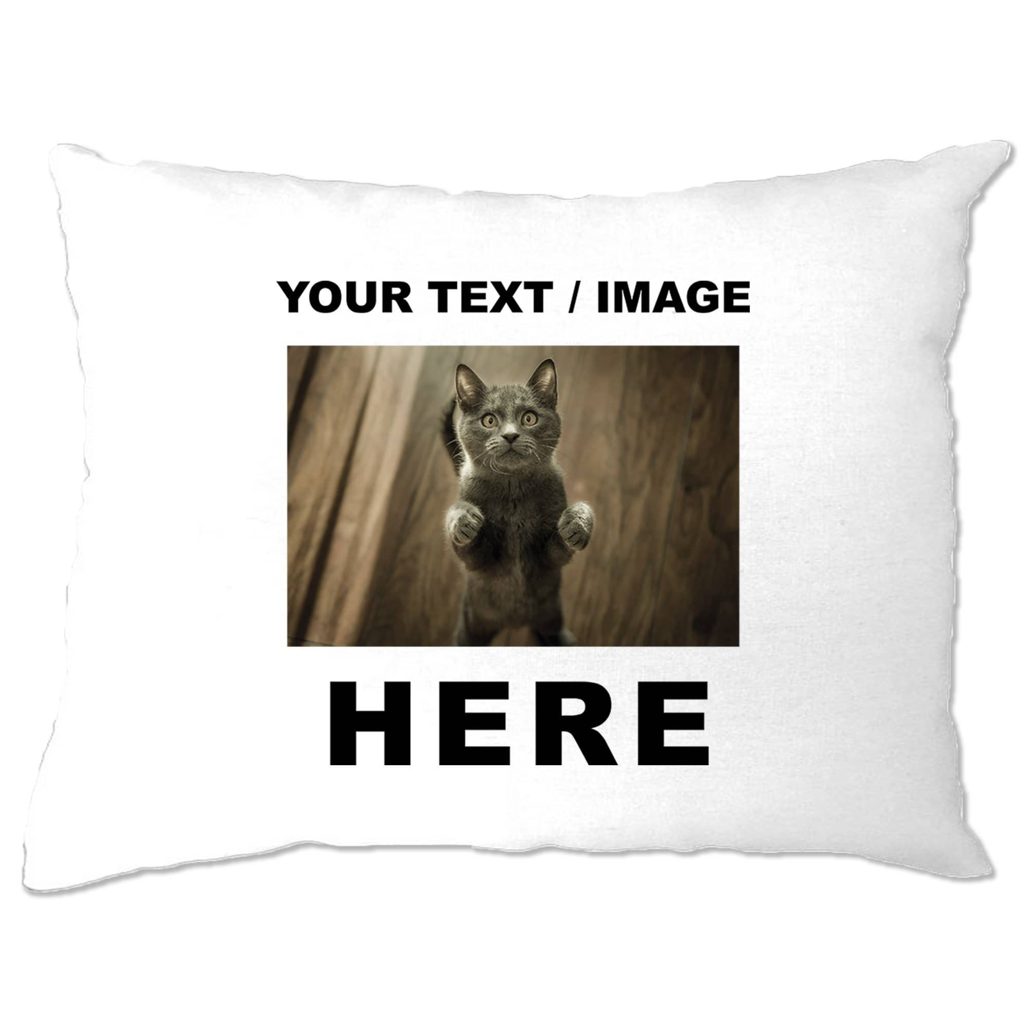 Custom Printed Pillow Case with Your Text or Image