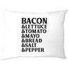 BLT Pillow Case Bacon Lettuce Tomato Sandwhich