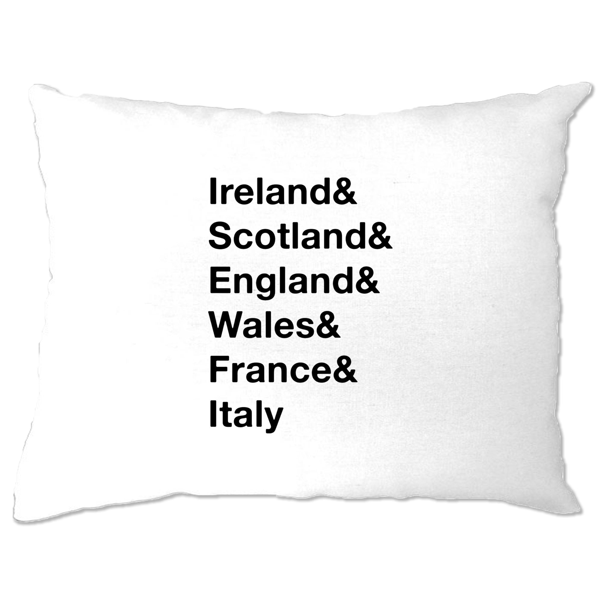 The Six Nations Pillow Case Ireland, Scotland, England