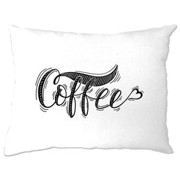 Novelty Slogan Pillow Case Coffee Heart Logo