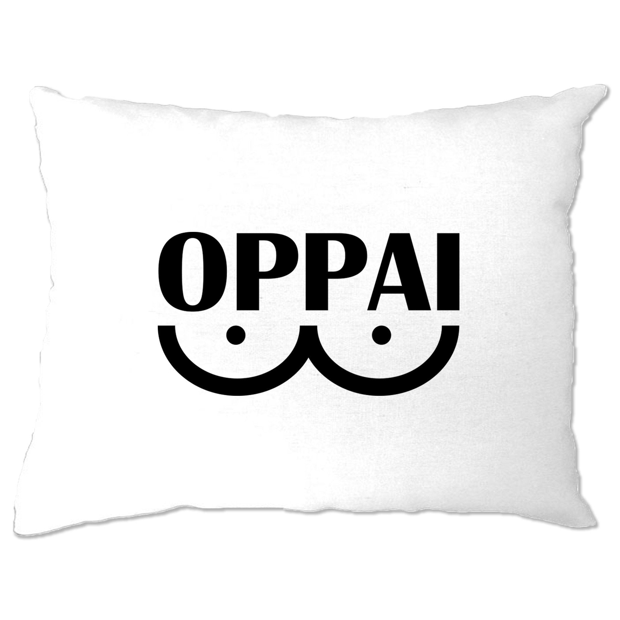 Novelty Anime Parody Pillow Case Oppai Logo
