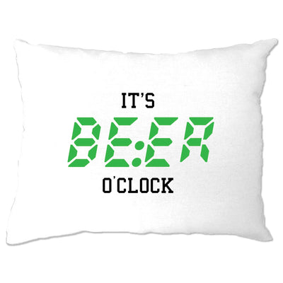 Pub Drinking Pillow Case It's BEER O'Clock Slogan