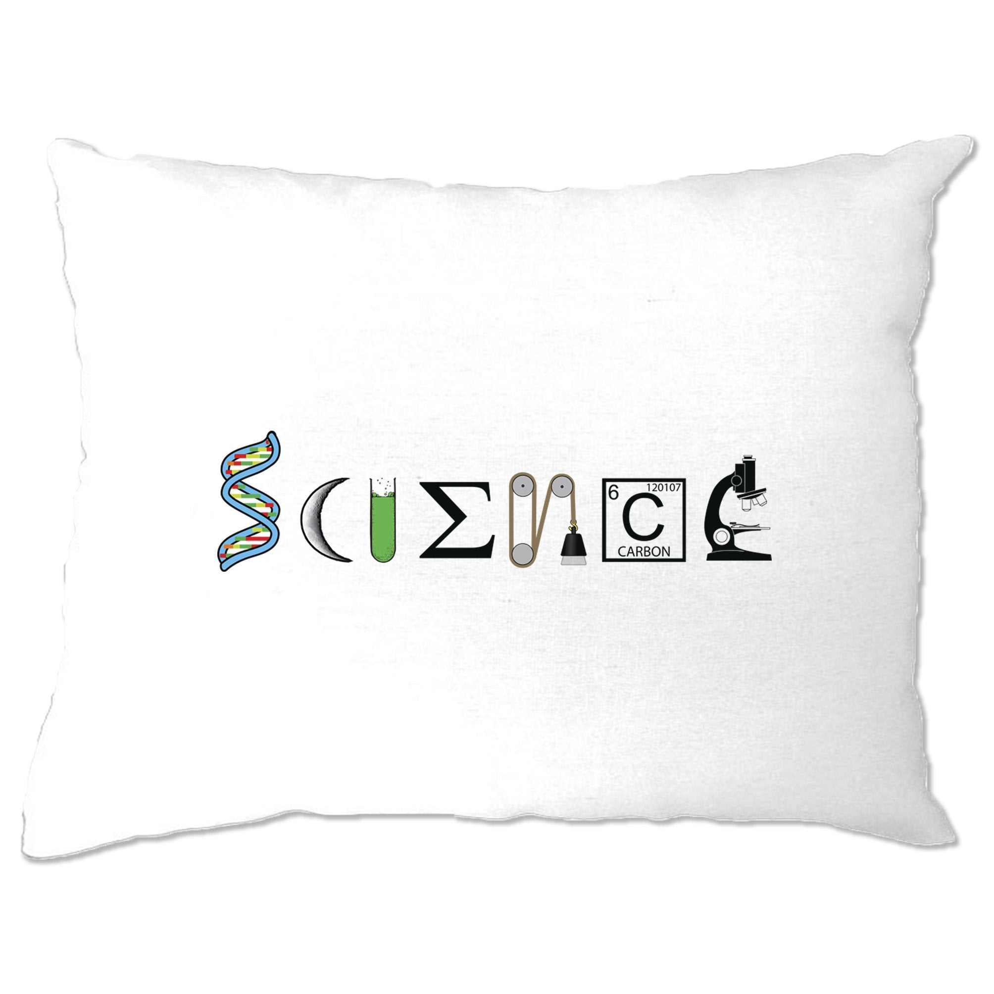 The Word Science Pillow Case Made From Scientific Things