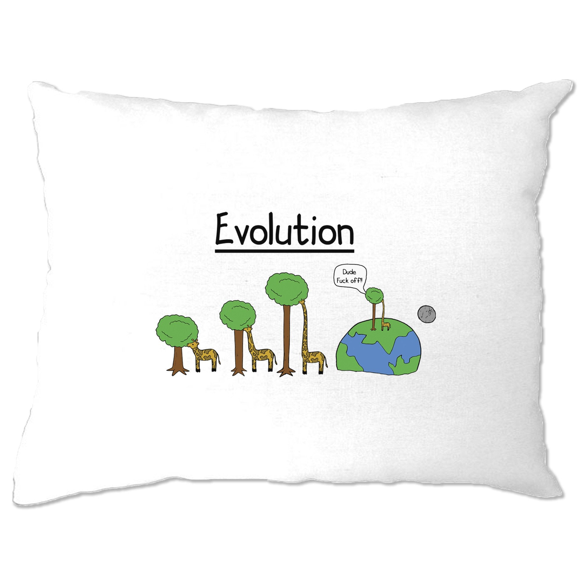 Novelty Pillow Case Evolution Of A Giraffe And Tree