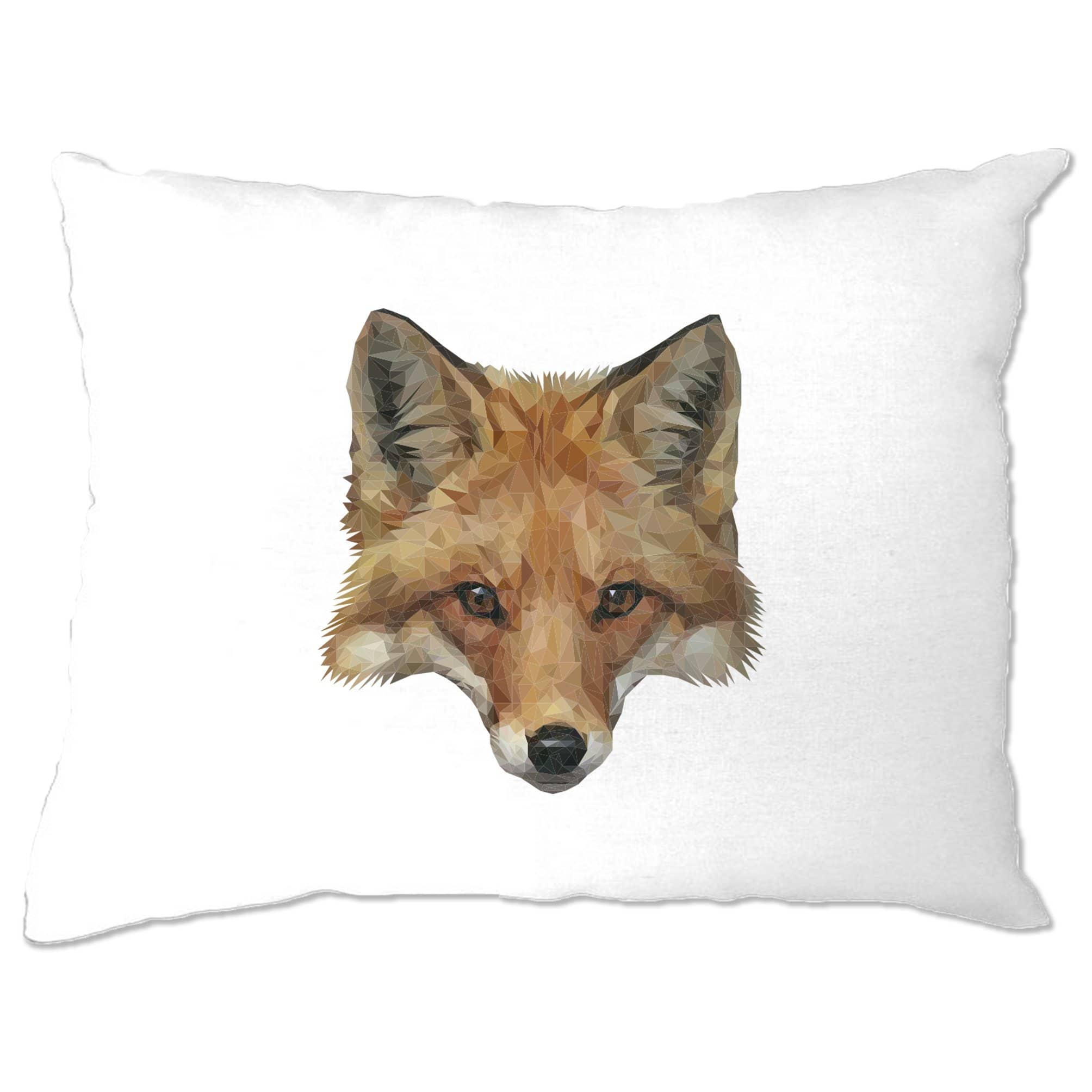 Animal Art Pillow Case Low Poly Fox Graphic