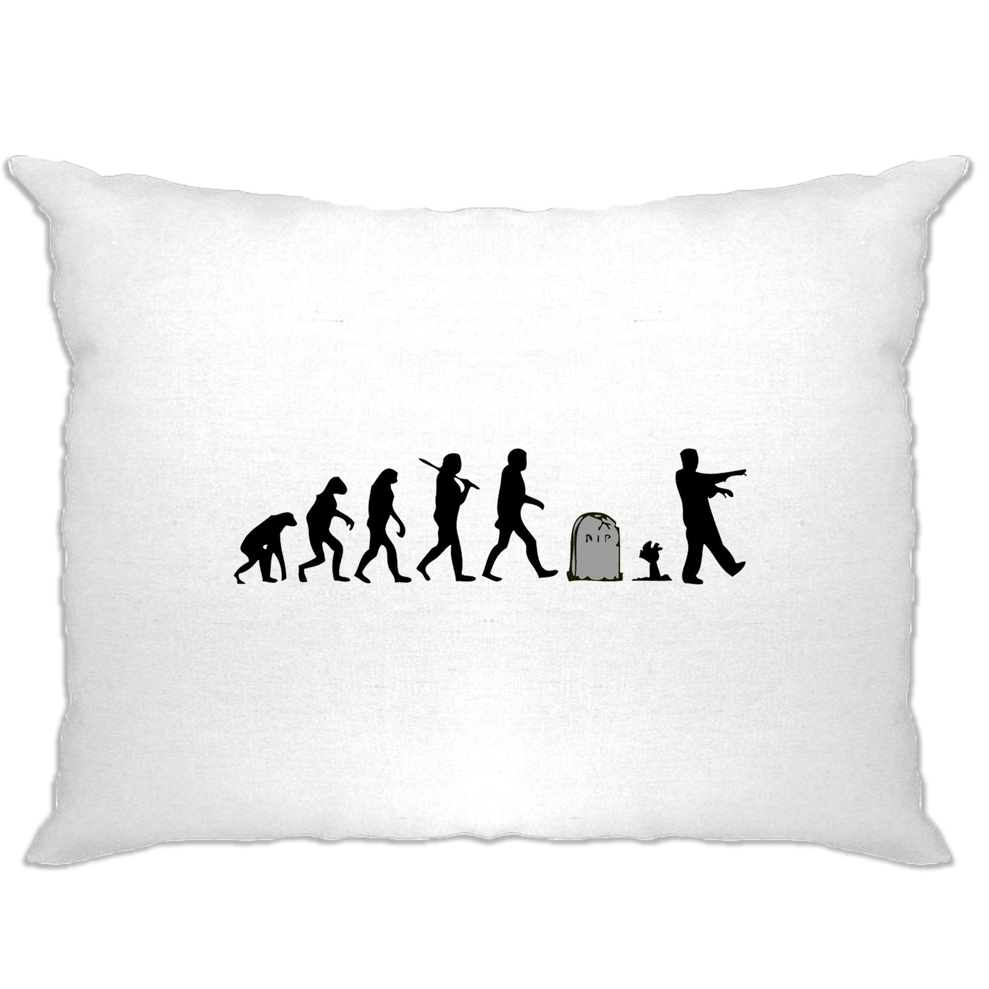 Halloween Pillow Case Evolution Of A Zombie
