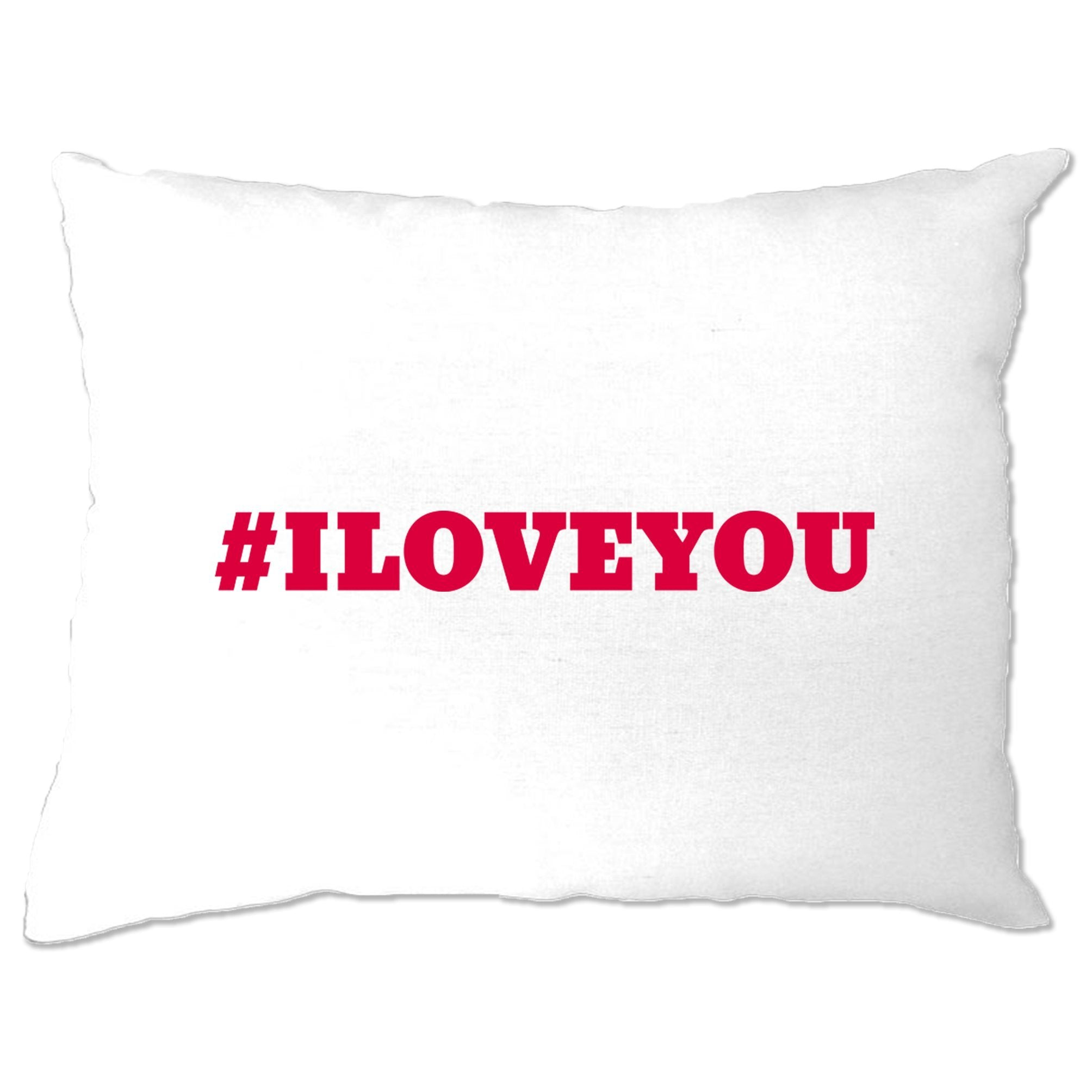 Trendy Internet Pillow Case Hashtag I LOVE YOU
