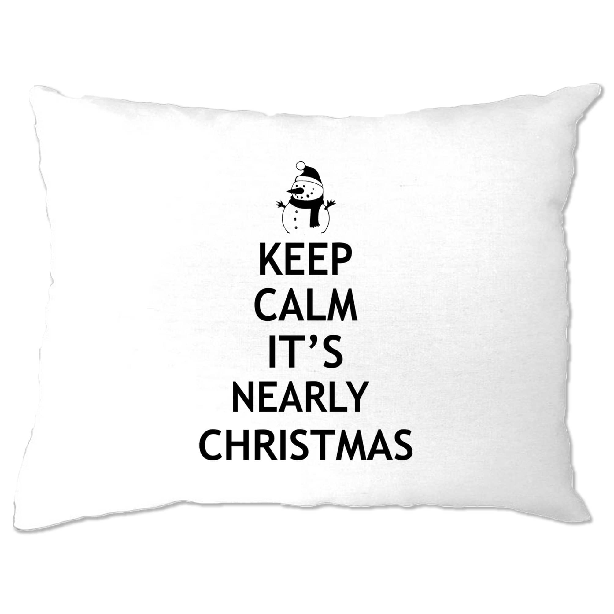 Christmas Pillow Case Keep Calm It's Nearly Xmas