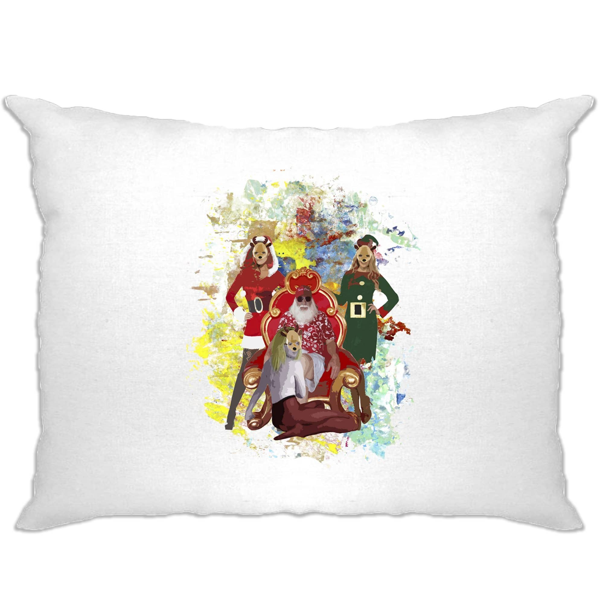 Father Christmas Pillow Case Santa And His Ho Hoe Hoes