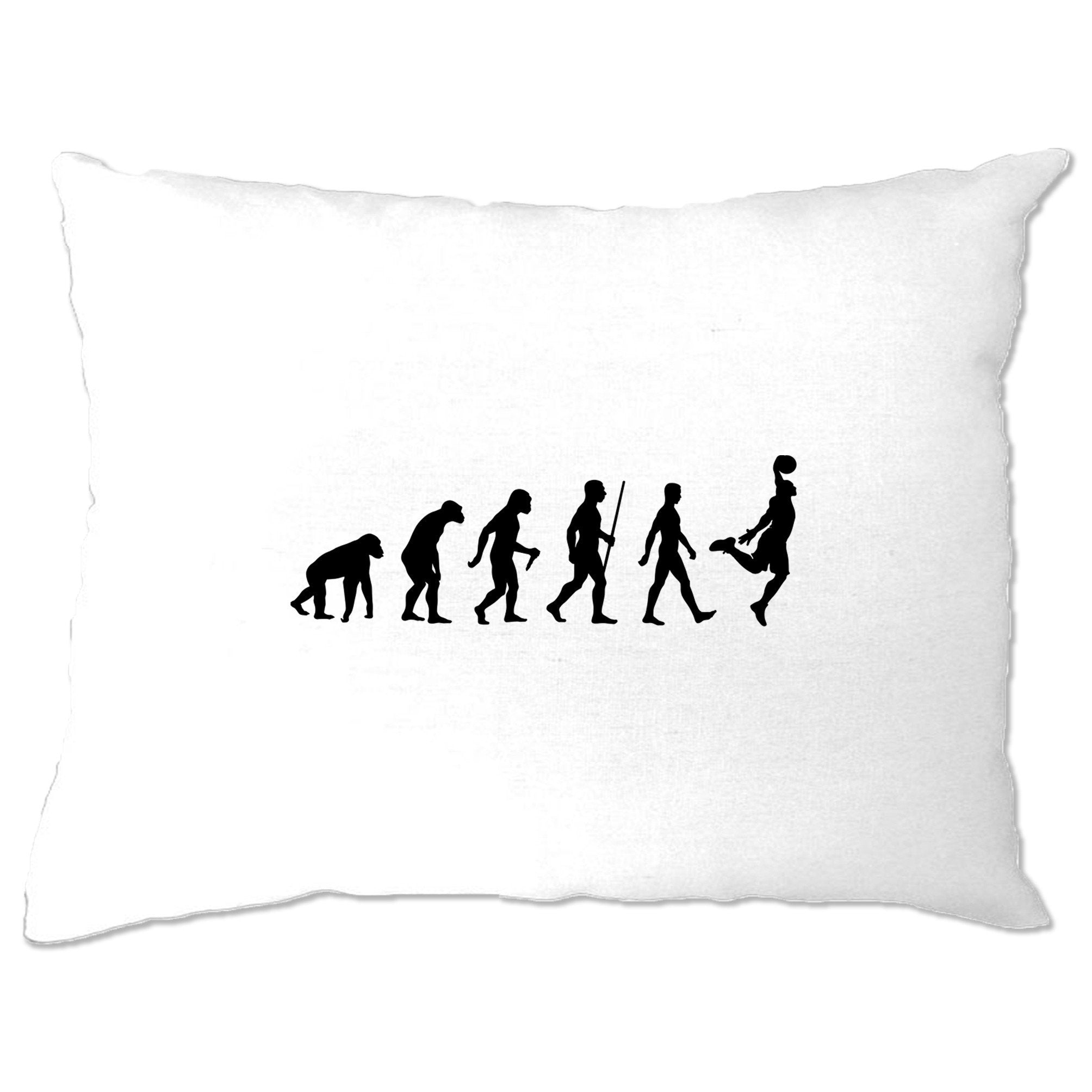 Sports Pillow Case Evolution Of A Basketball Player