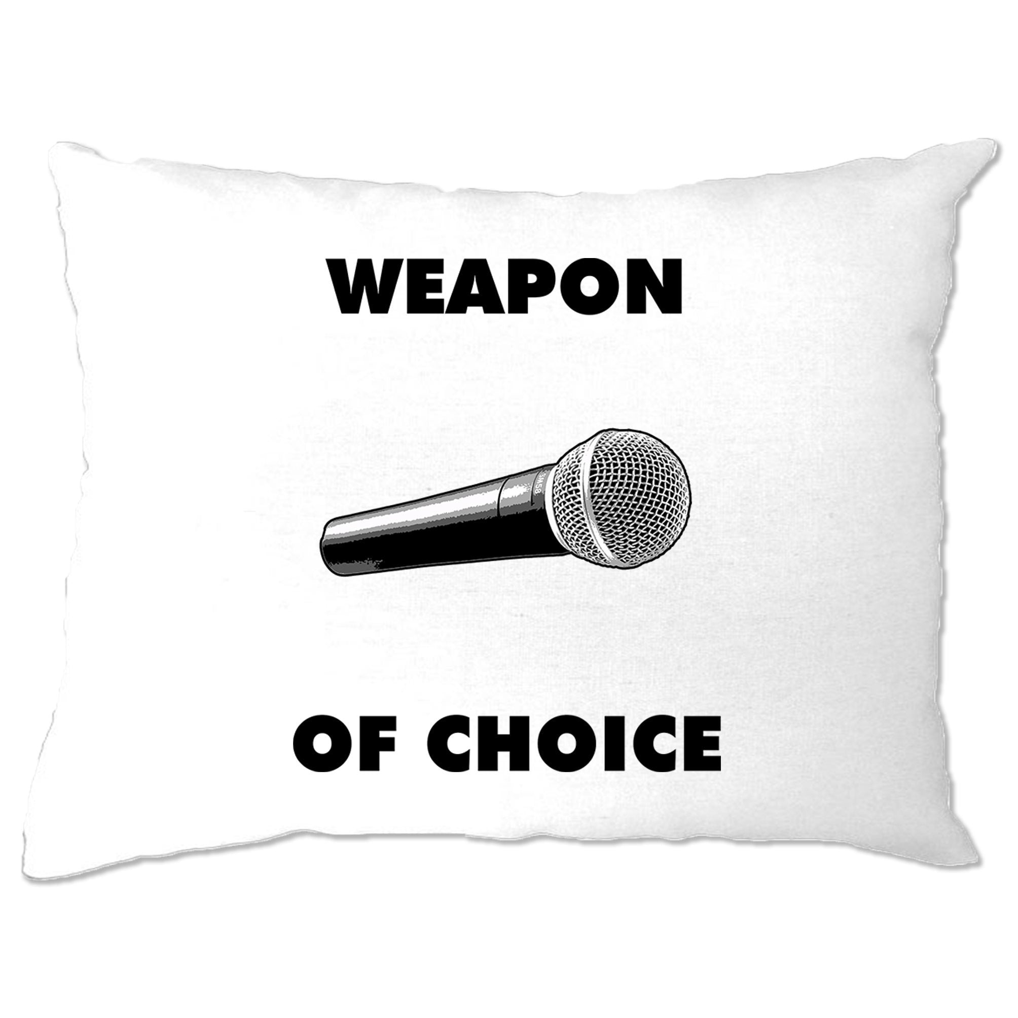 Novelty Music Pillow Case Weapon of Choice Microphone