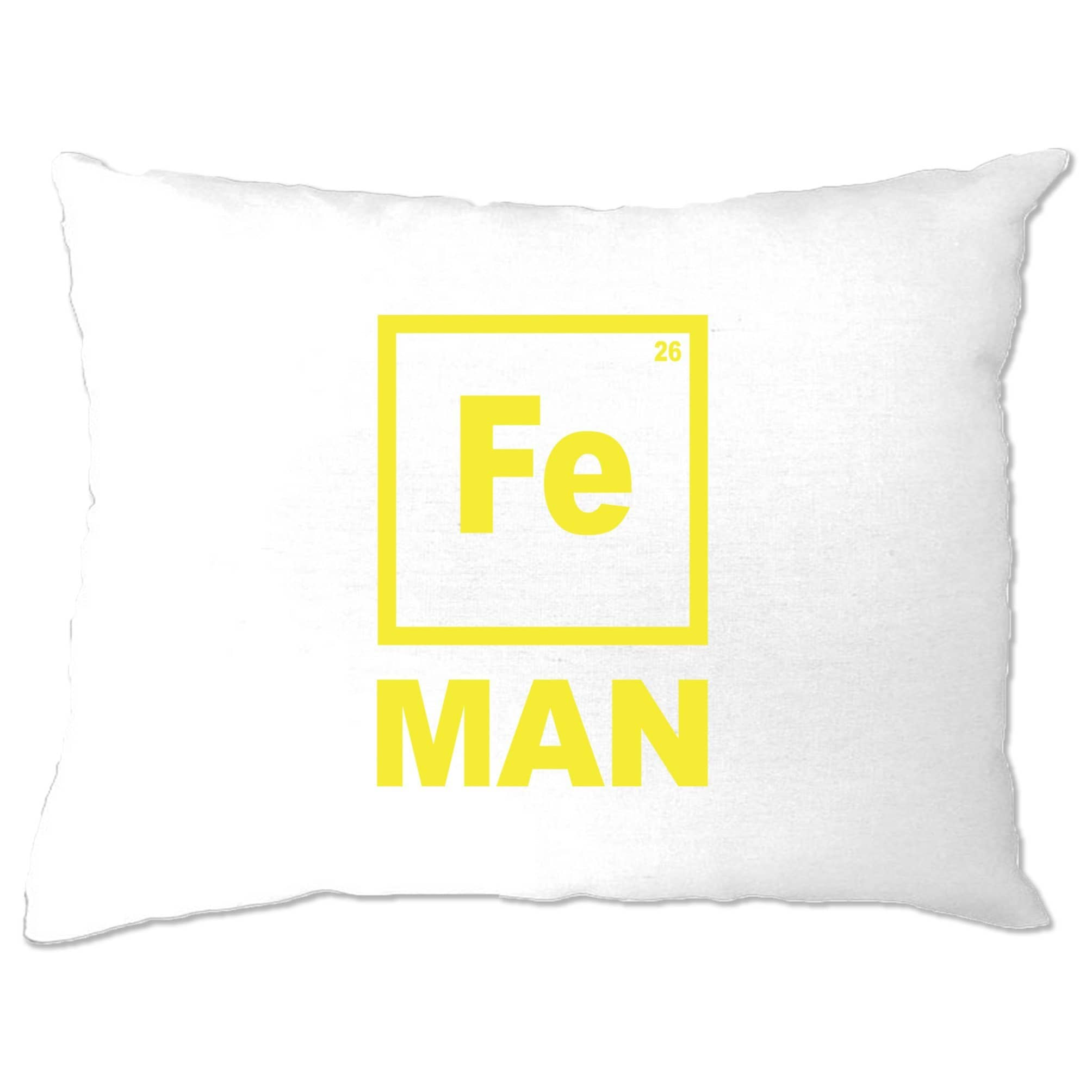 Novelty Nerdy Pillow Case Fe Man Iron Chemical Symbol