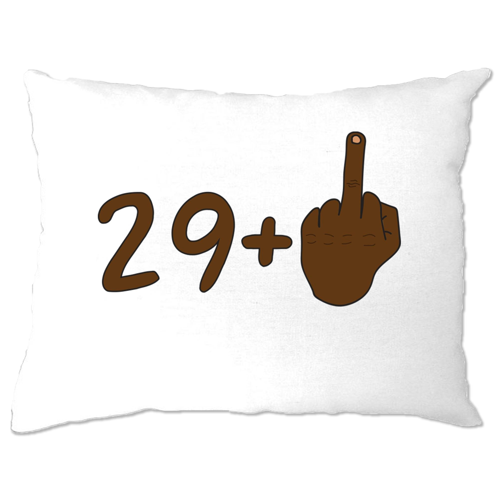 Rude 30th Birthday Pillow Case Black Middle Finger