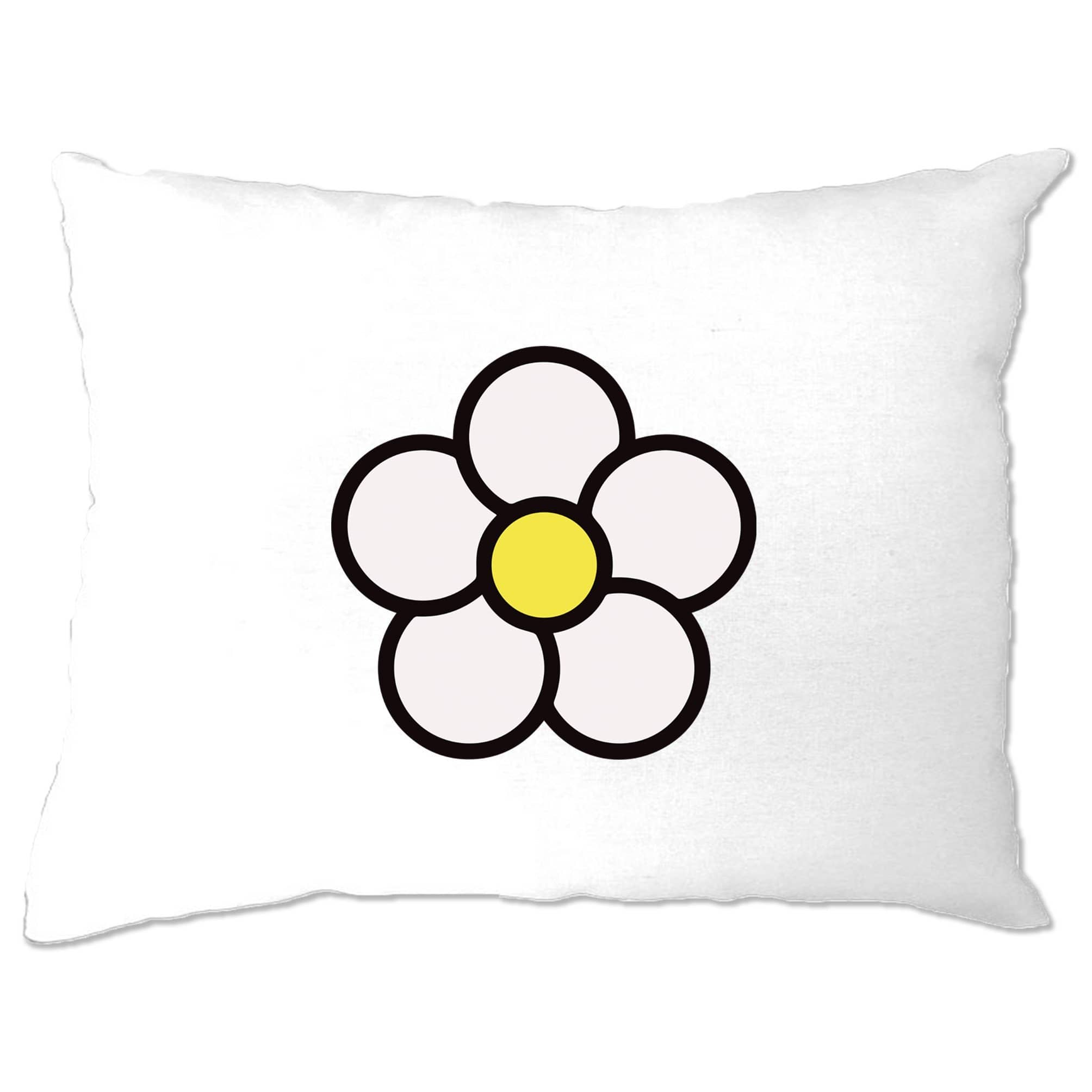 Cute Summer Pillow Case Floral Single Daisy