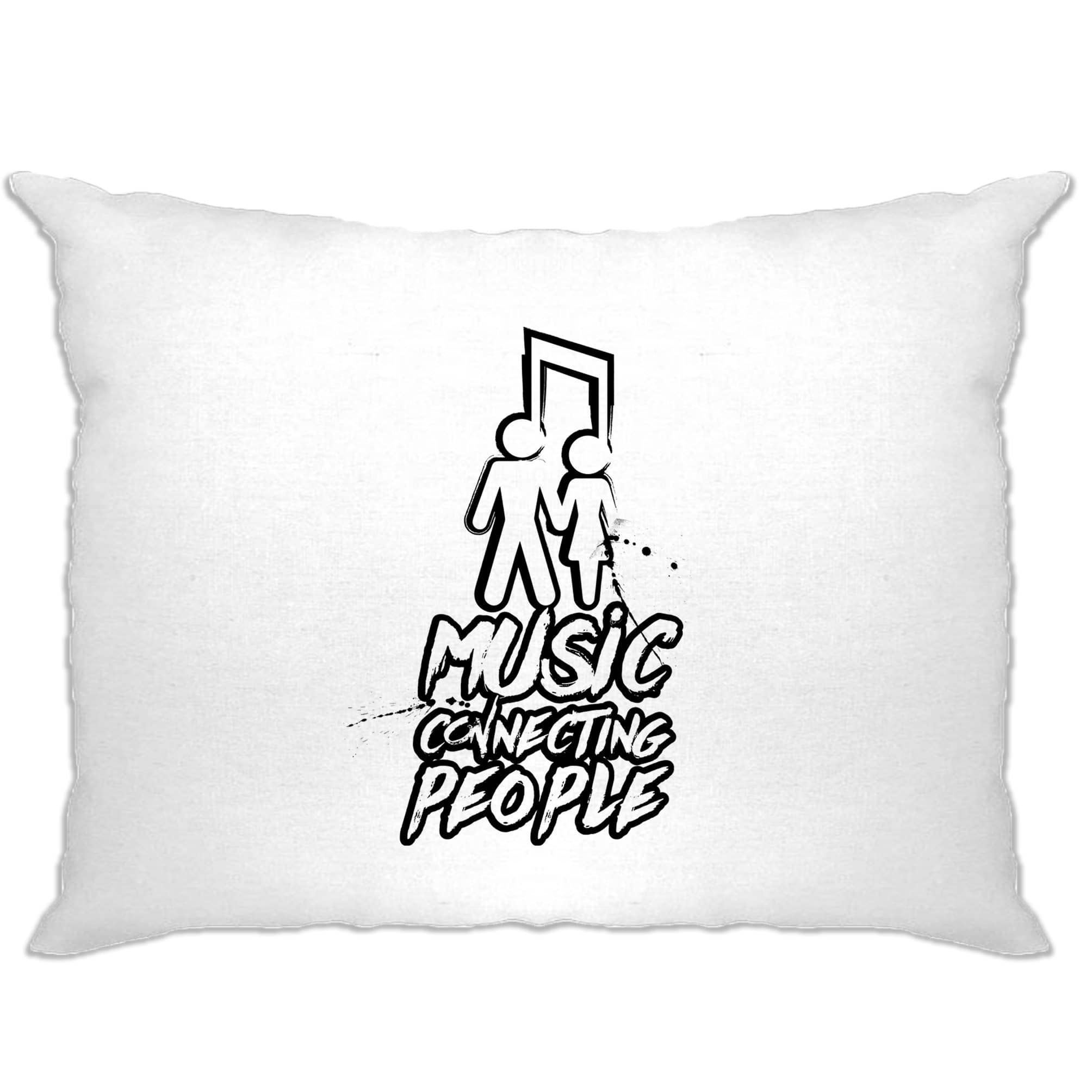 Cute Couples Pillow Case Music Connecting People Slogan
