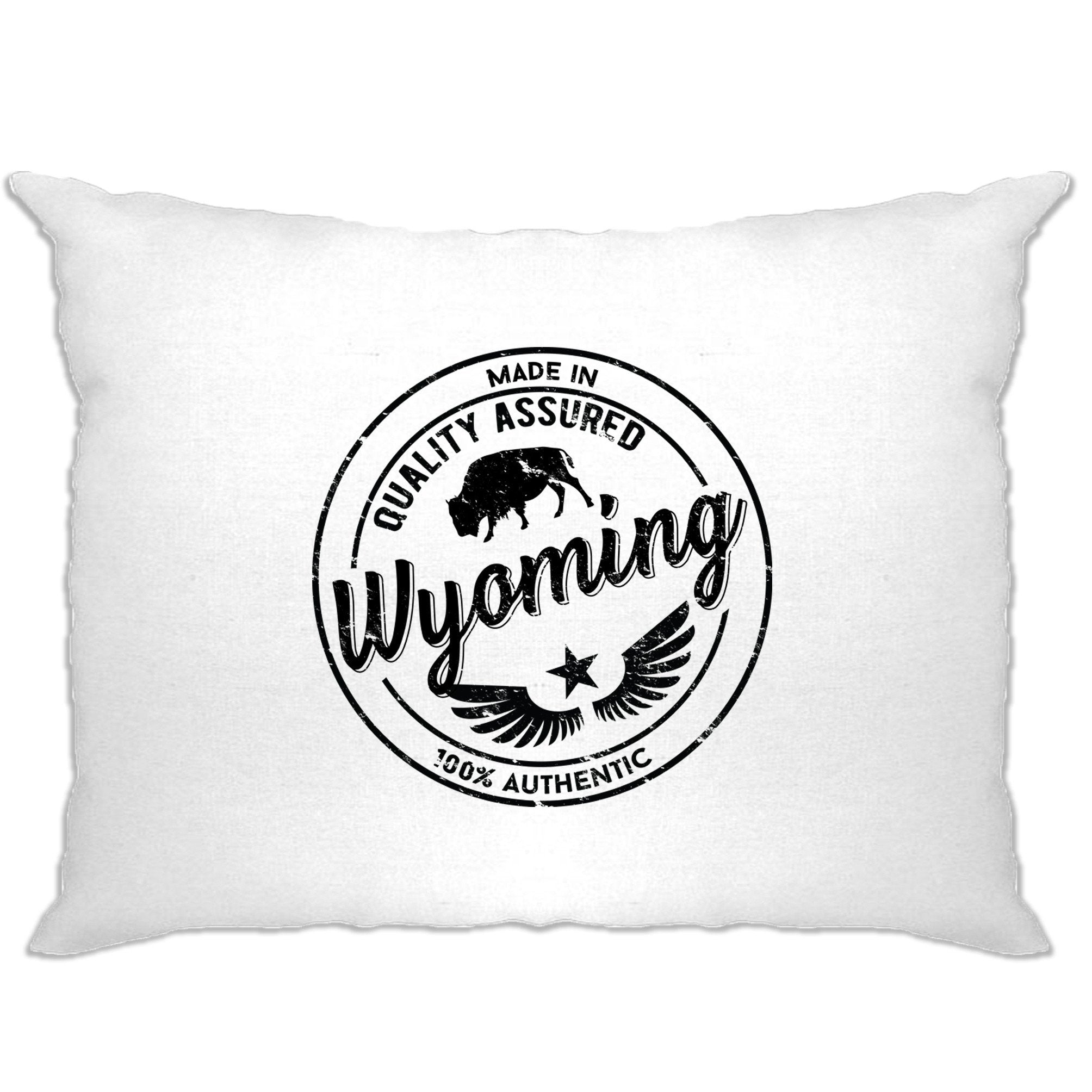 Hometown Pride Pillow Case Made in Wyoming Stamp