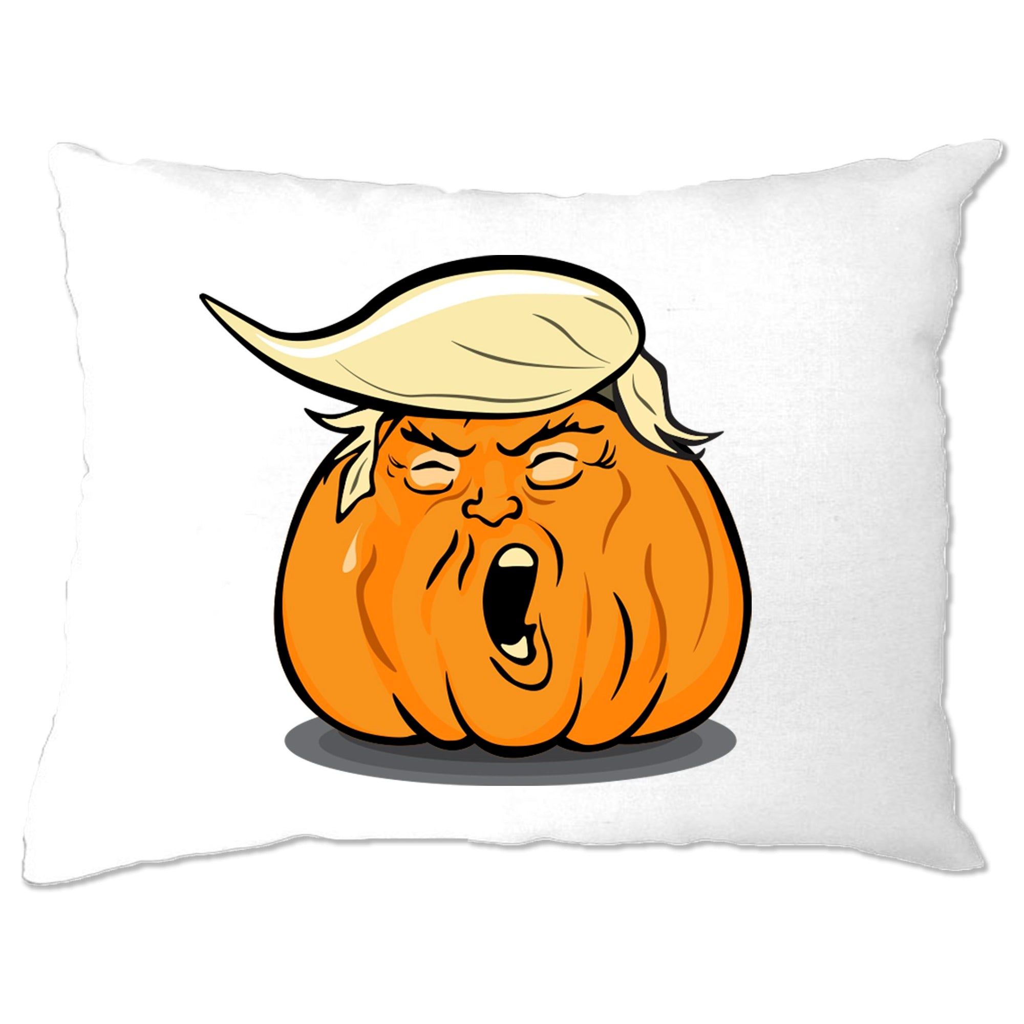 Donald Trump Pillow Case Haloween Trumpkin Joke
