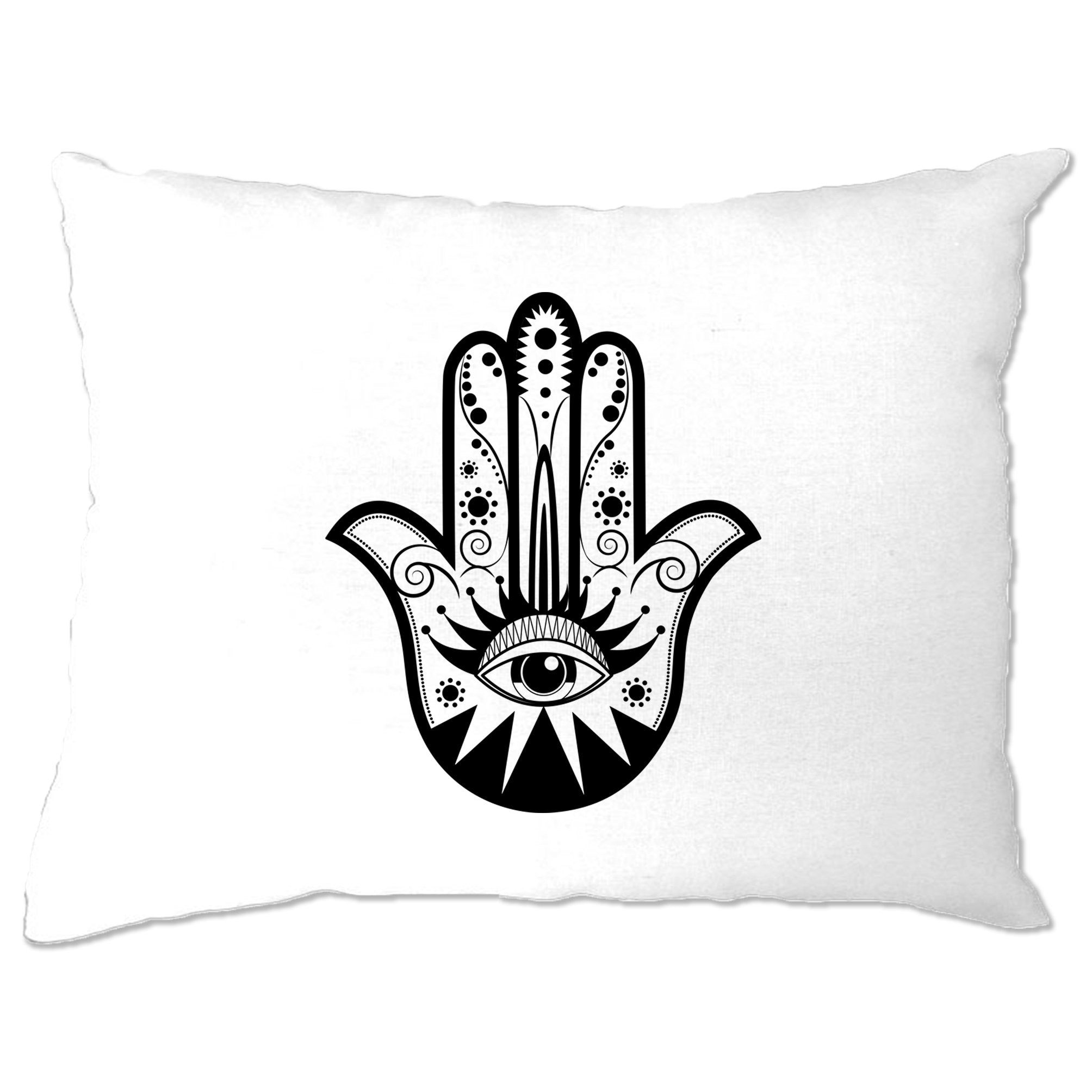 Traditional Art Pillow Case Hamsa Hand Graphic