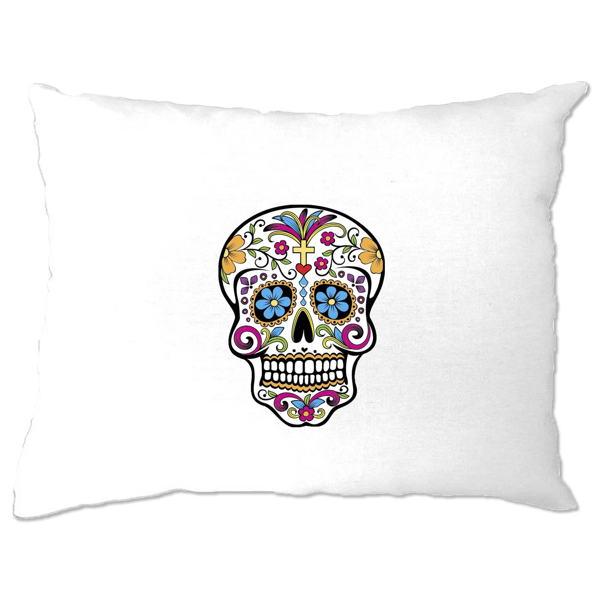 Day Of The Dead Pillow Case Mexican Sugar Skull