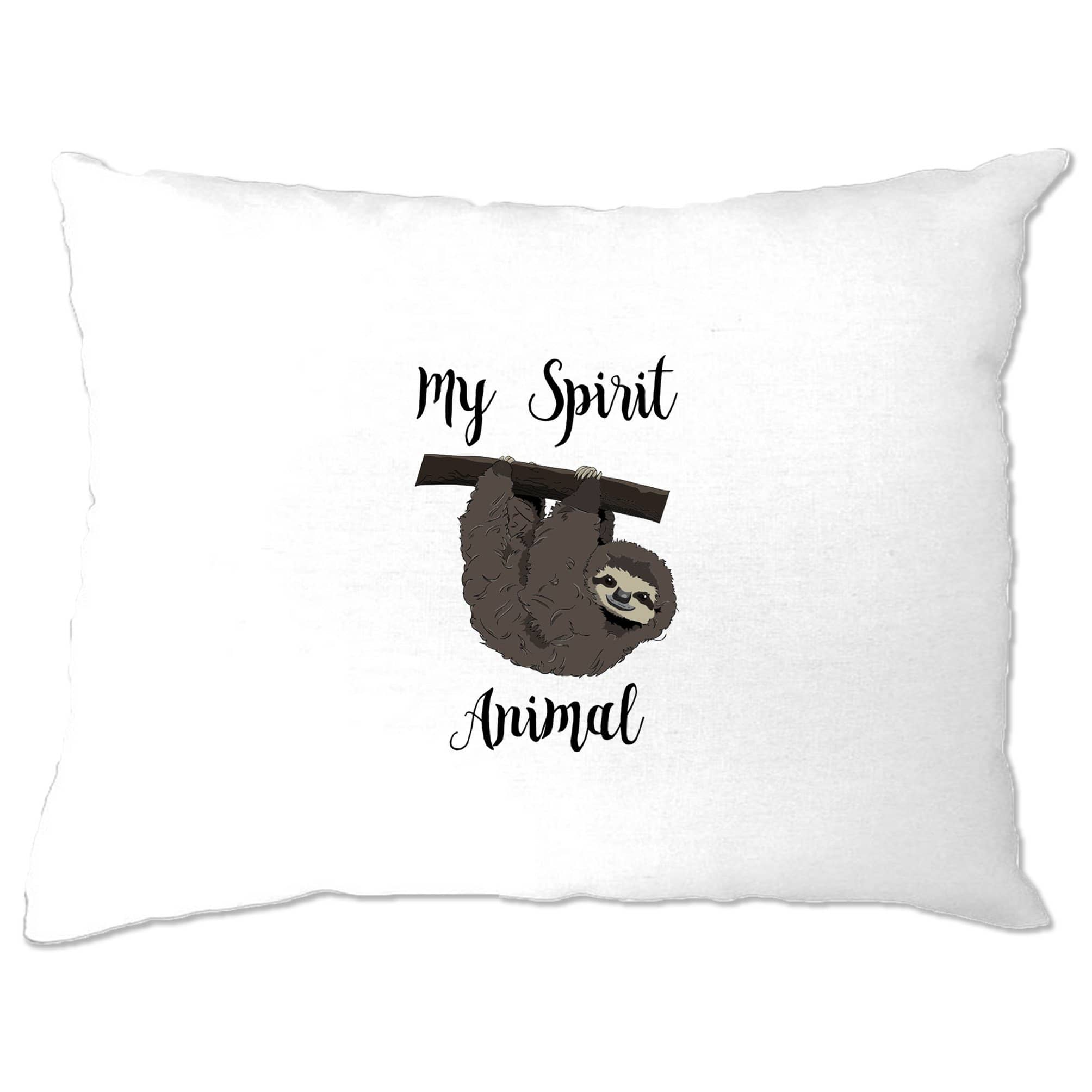 Novelty Lazy Pillow Case My Spirit Animal Is A Sloth