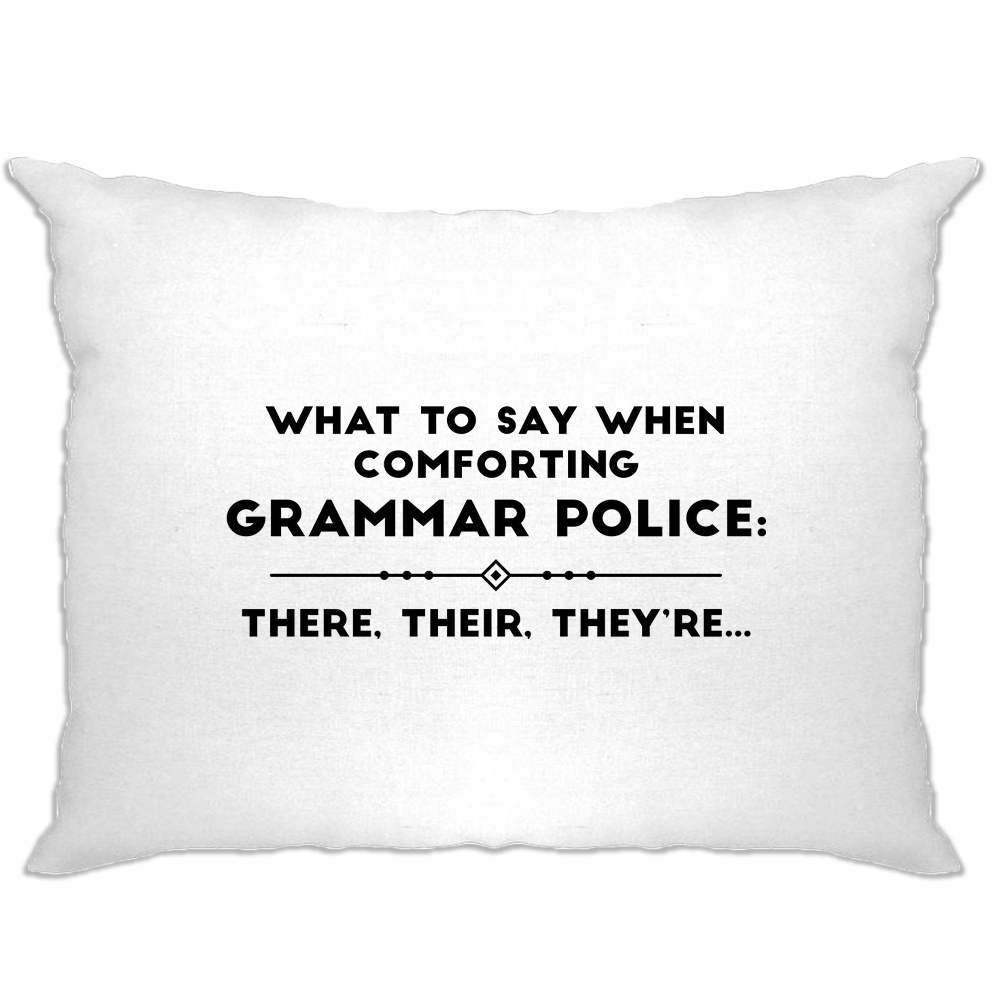 Pun Pillow Case What To Say When Comforting Grammar Police