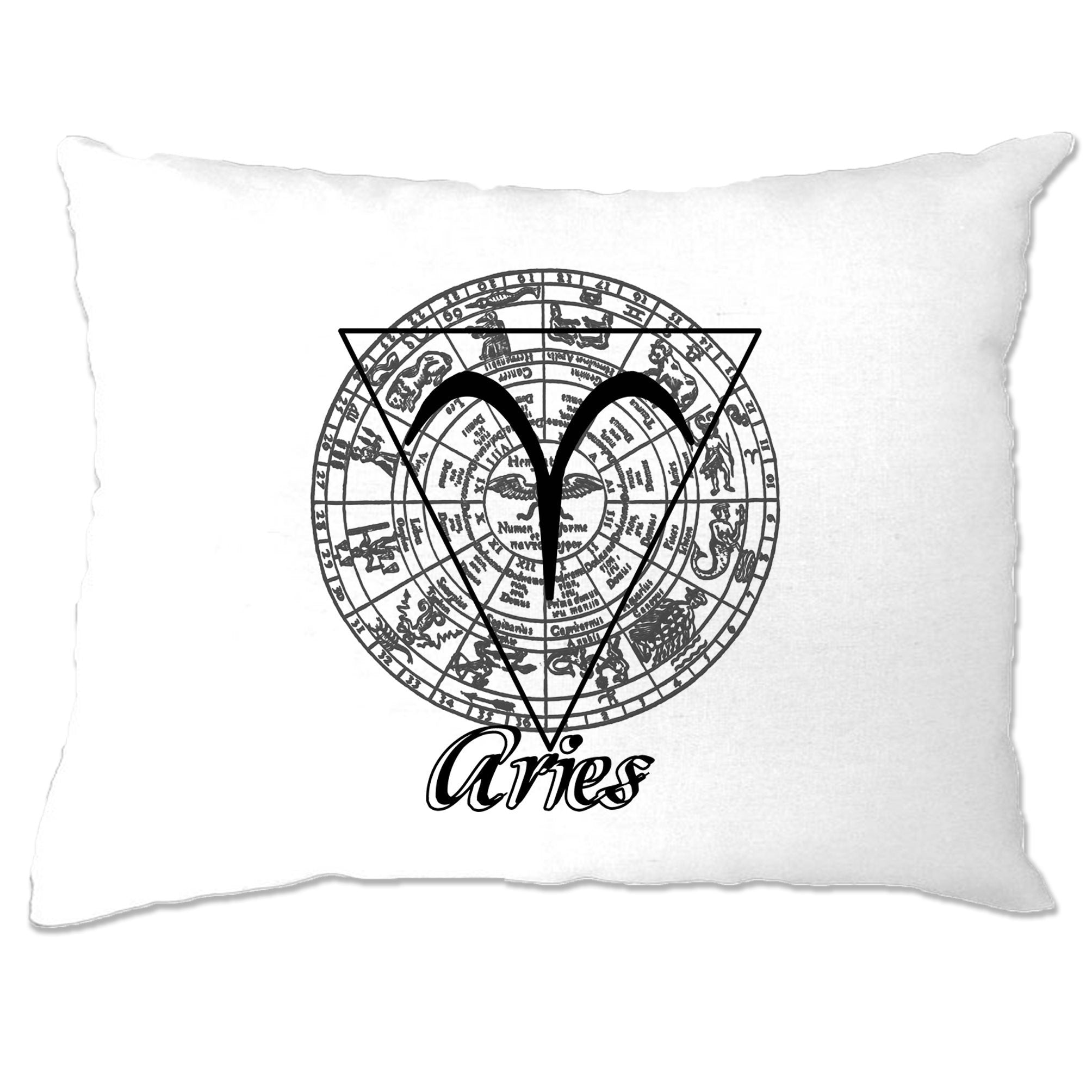 Horoscope Pillow Case Aries Zodiac Star Sign Birthday