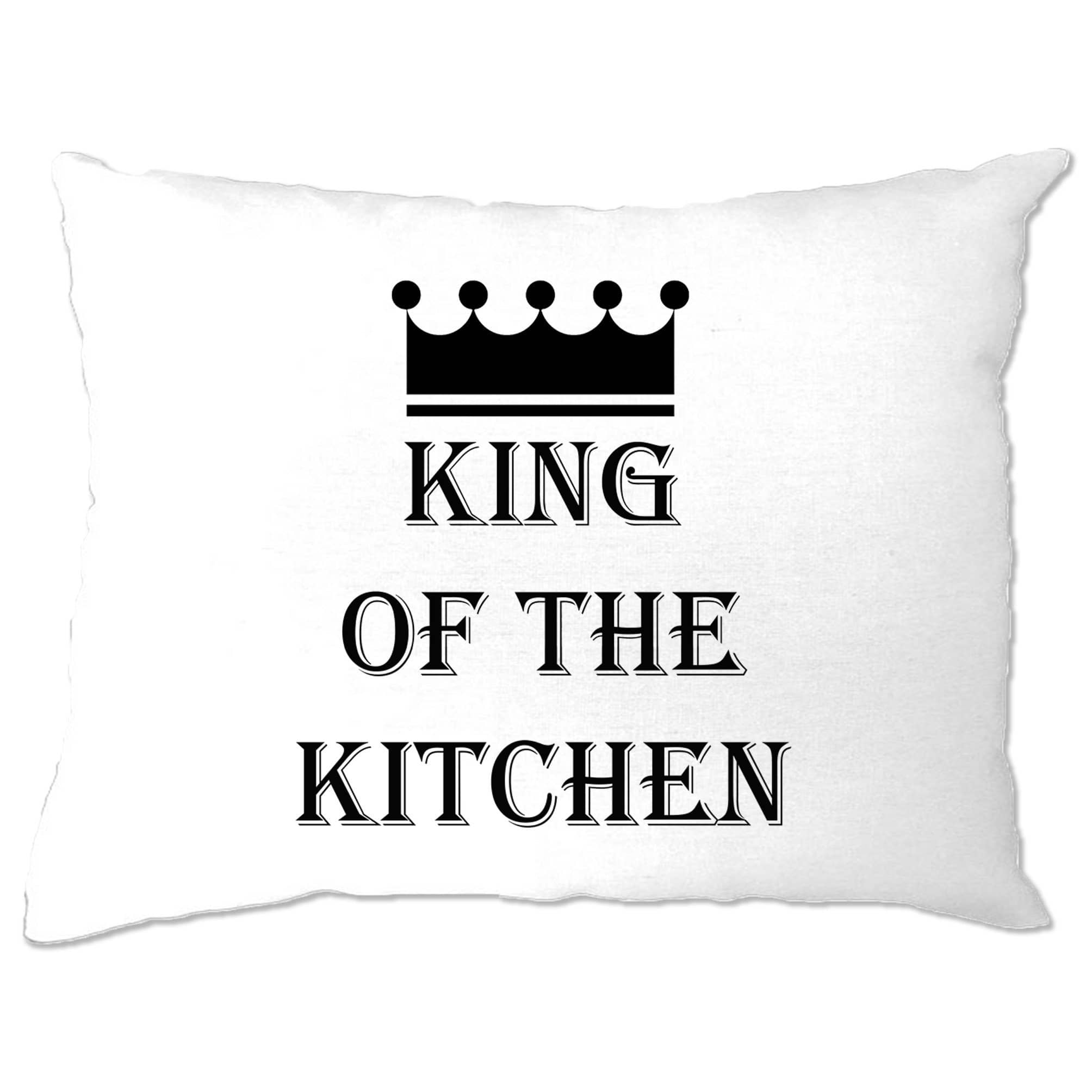 Chef's Cooking Pillow Case King Of The Kitchen Slogan