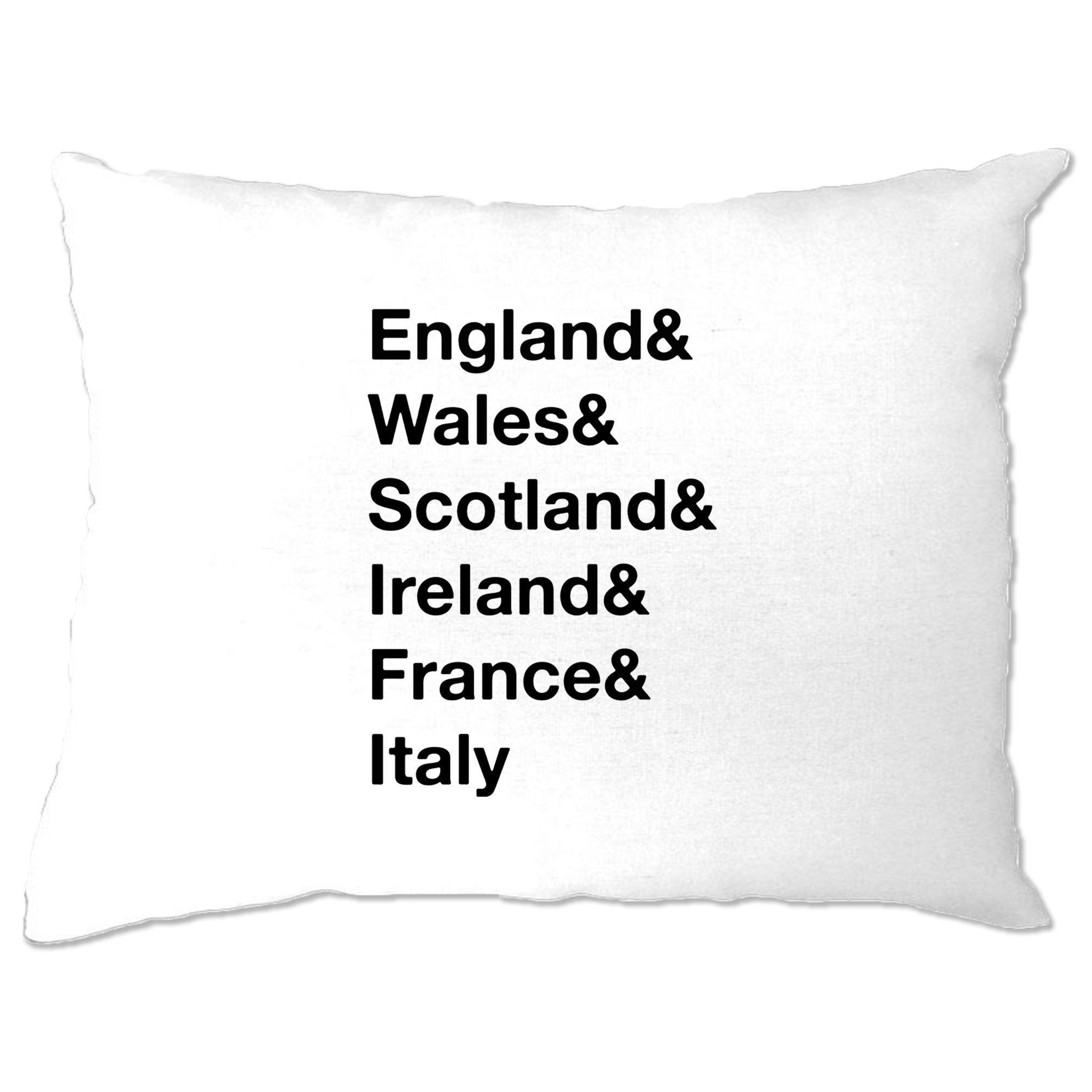 The Six Nations Pillow Case England, Wales, Scotland