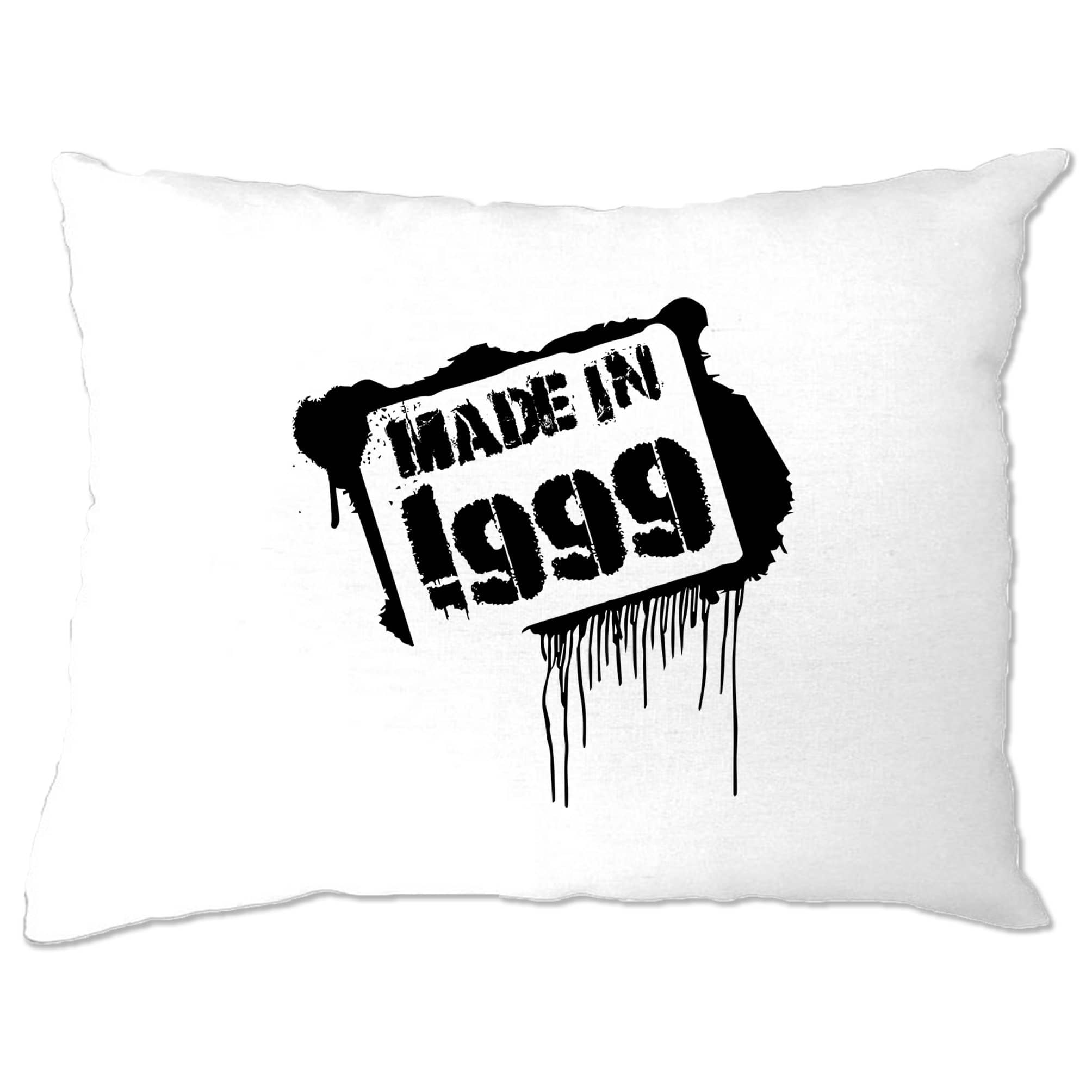 Birthday Pillow Case Made in 1999 Graffiti