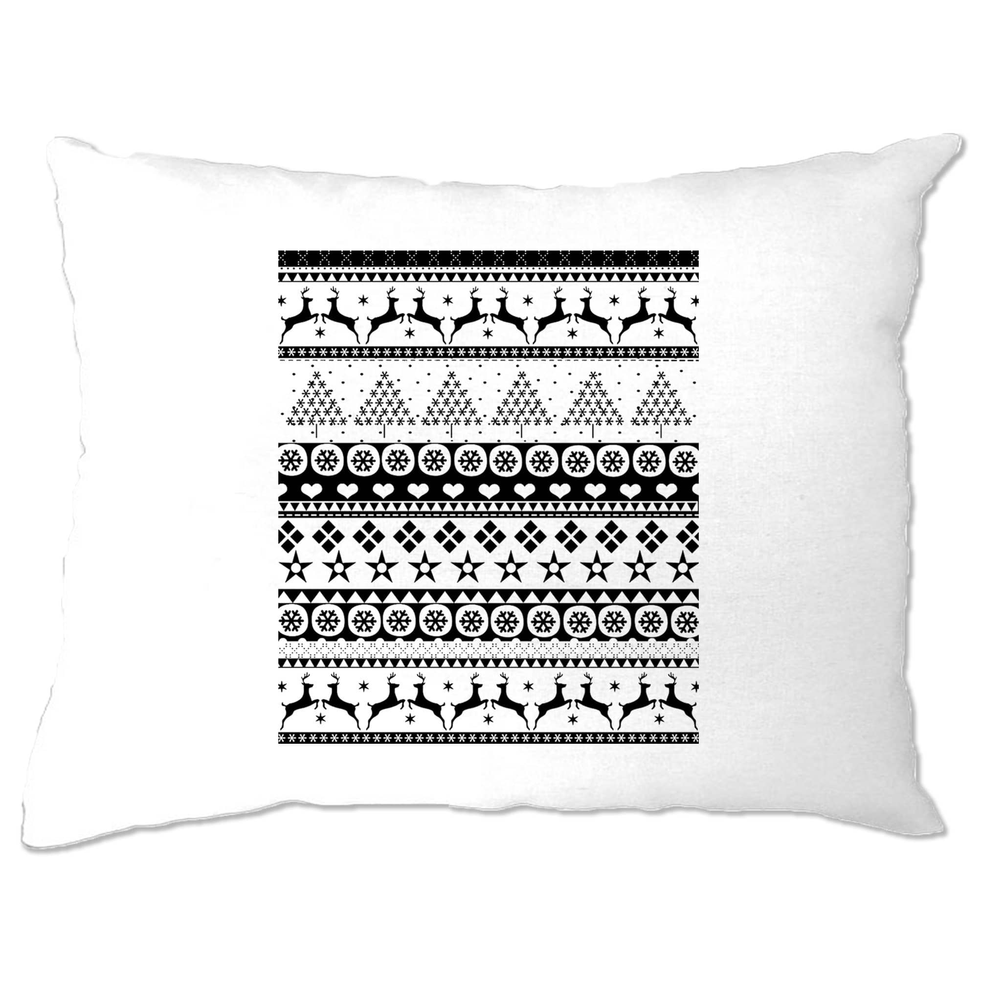 Christmas Pillow Case Xmas Ugly Sweater Pattern