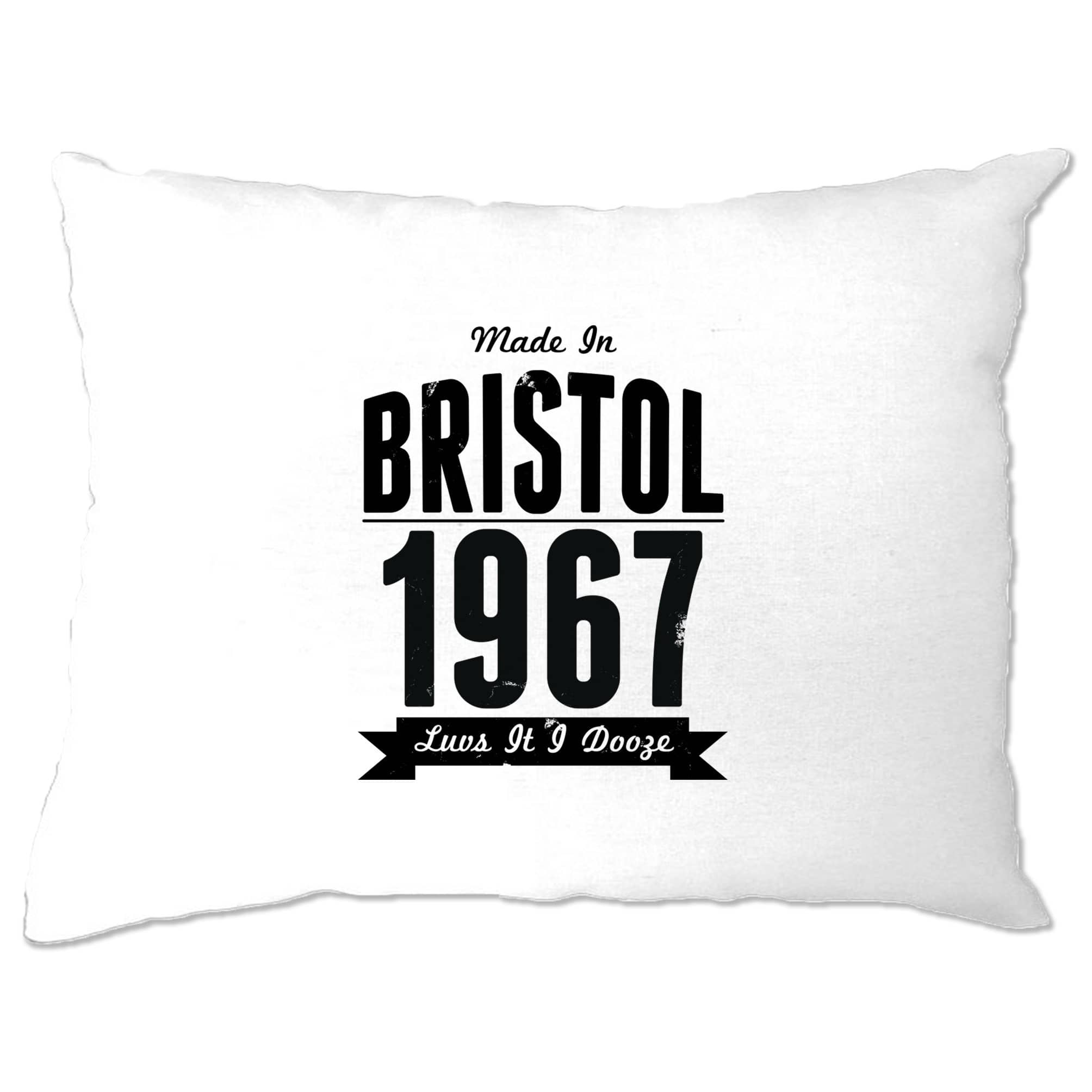 Birthday Pillow Case Made In Bristol, England 1967 Motto