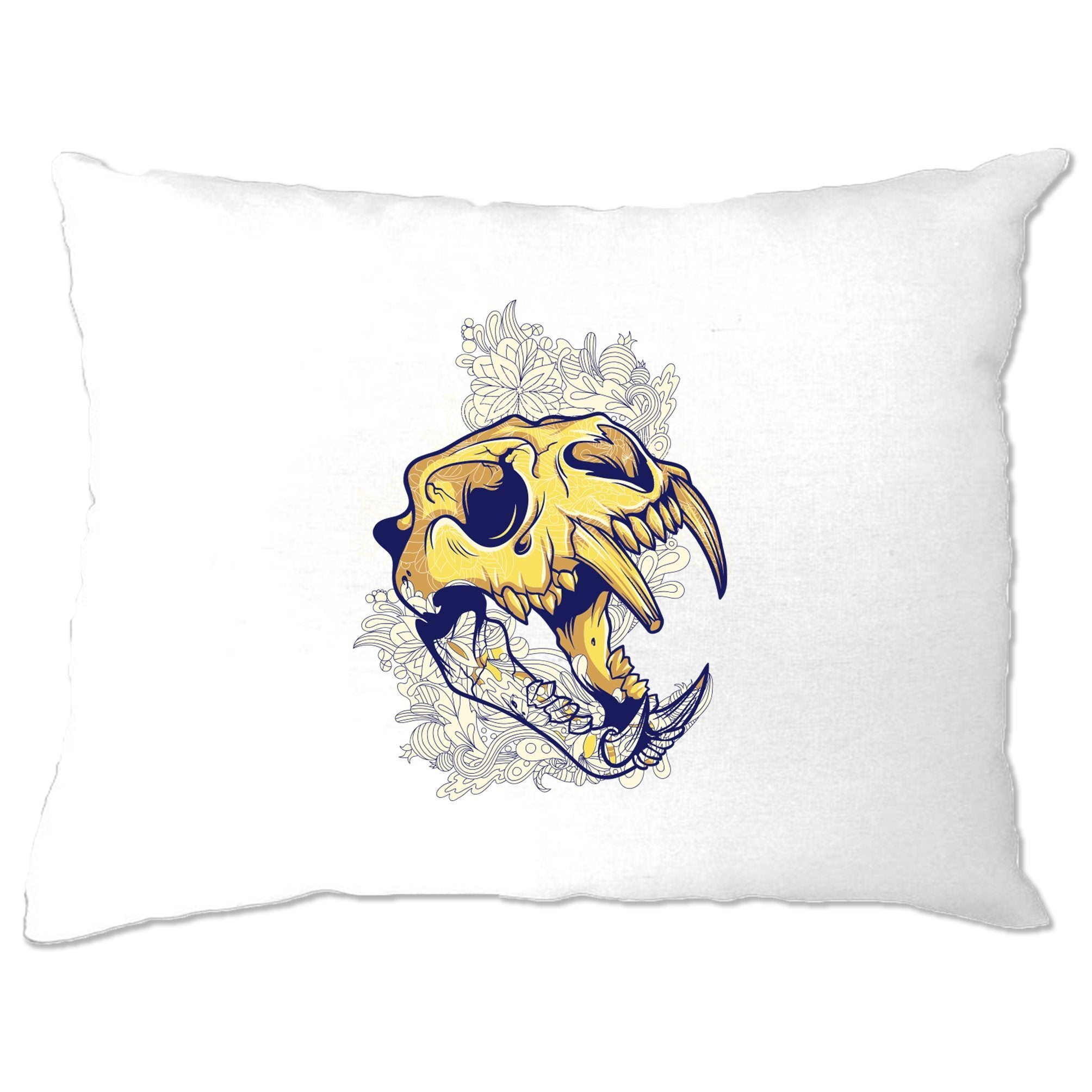 Ice Age Art Pillow Case Sabertooth Tiger Skull Graphic