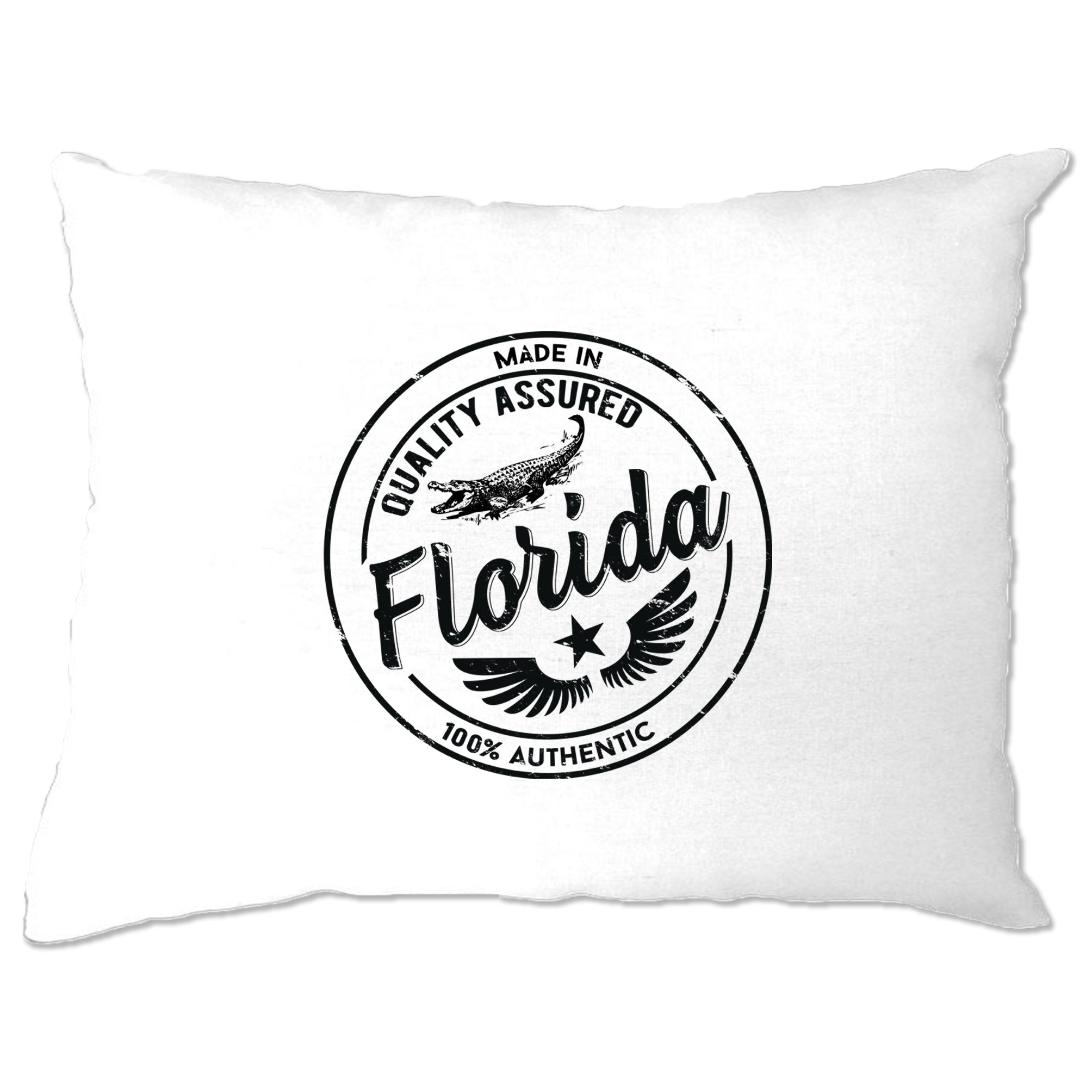 Hometown Pride Pillow Case Made in Florida Stamp