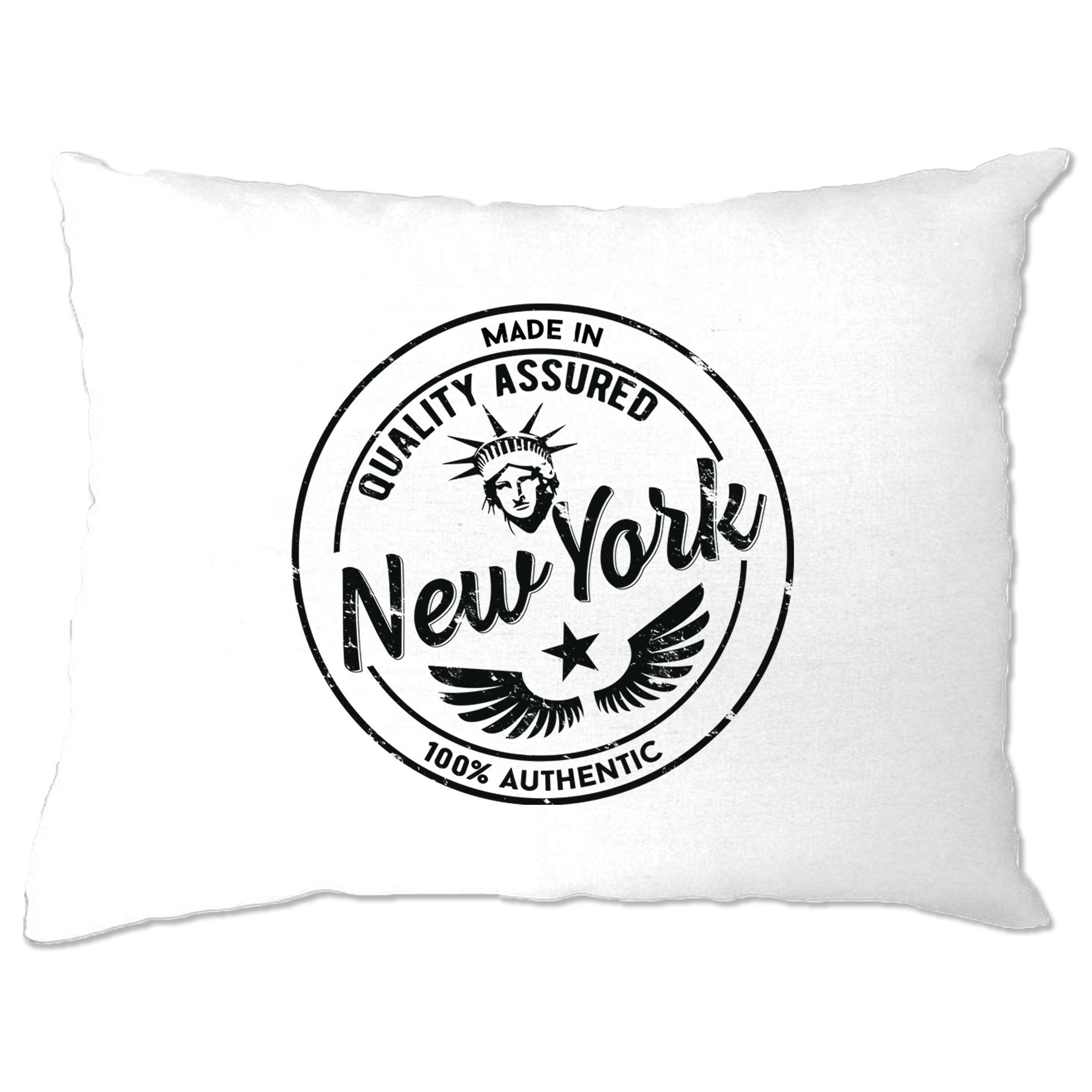 Hometown Pride Pillow Case Made in New York Stamp