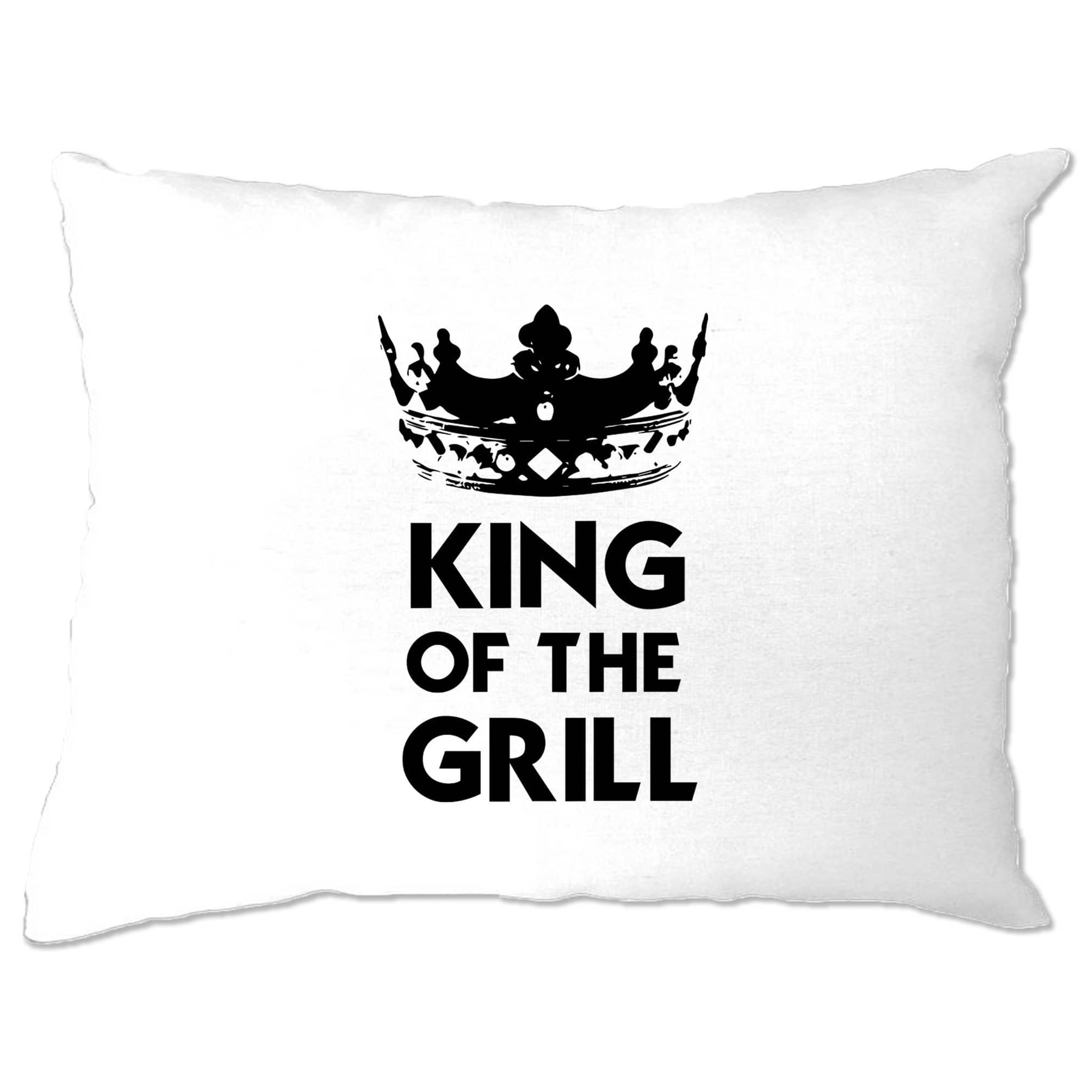 Novelty Cooking Pillow Case King Of The Grill Slogan