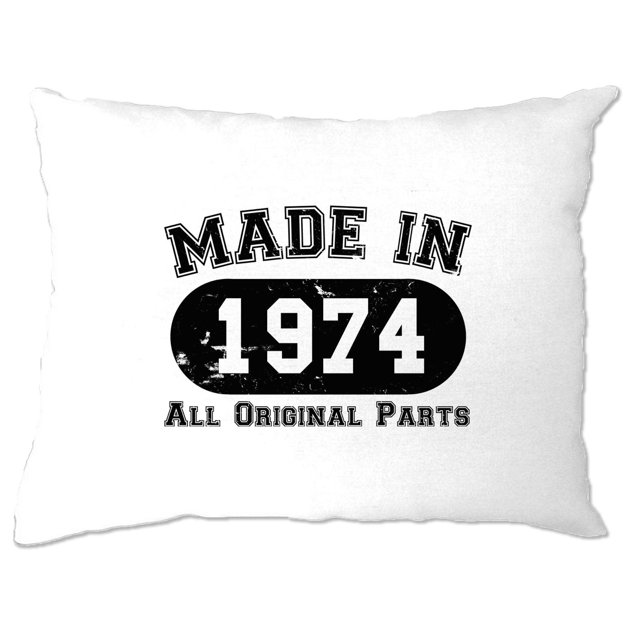 Made in 1974 All Original Parts Pillow Case [Distressed]