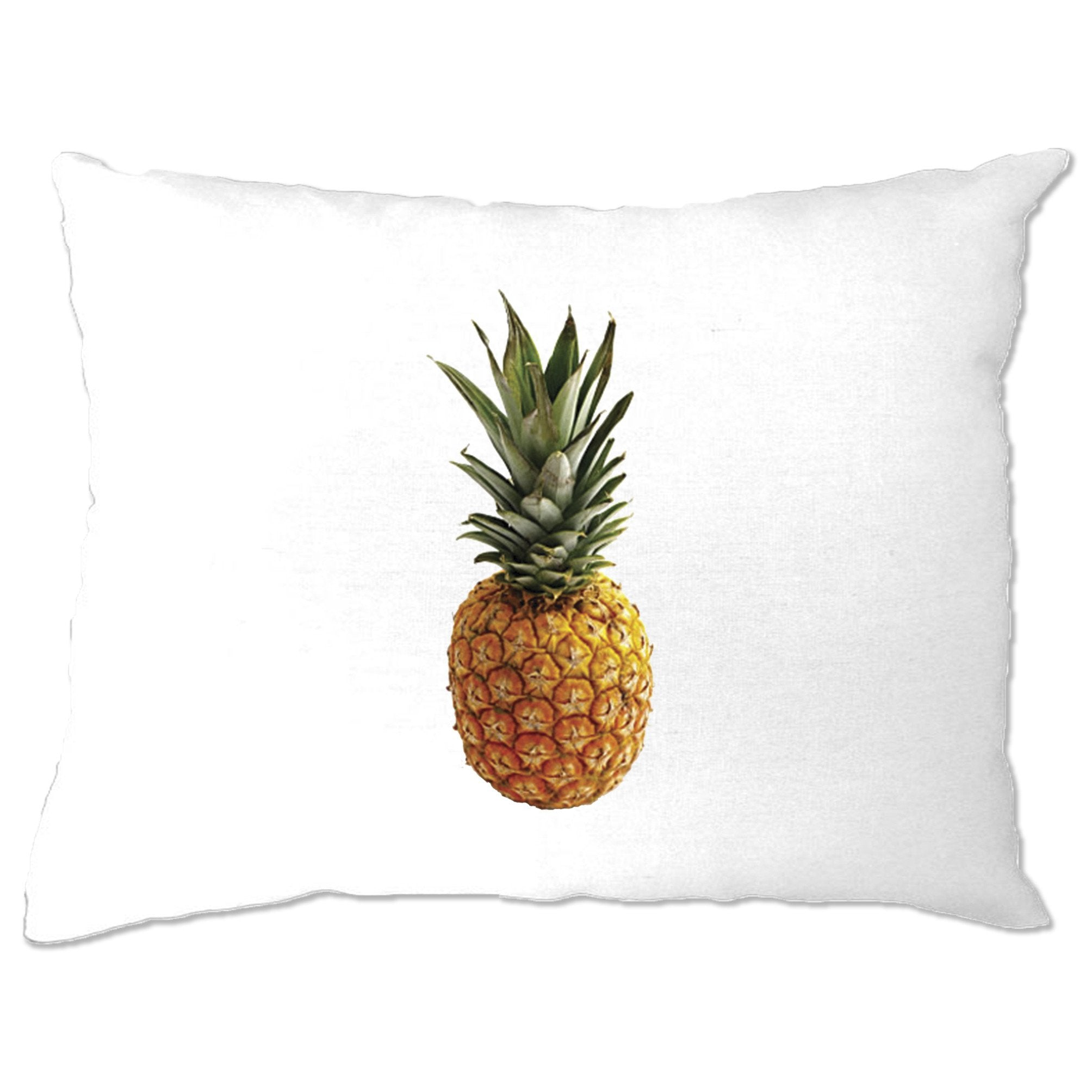 Trendy Summer Pillow Case Pineapple Fruit Photograph