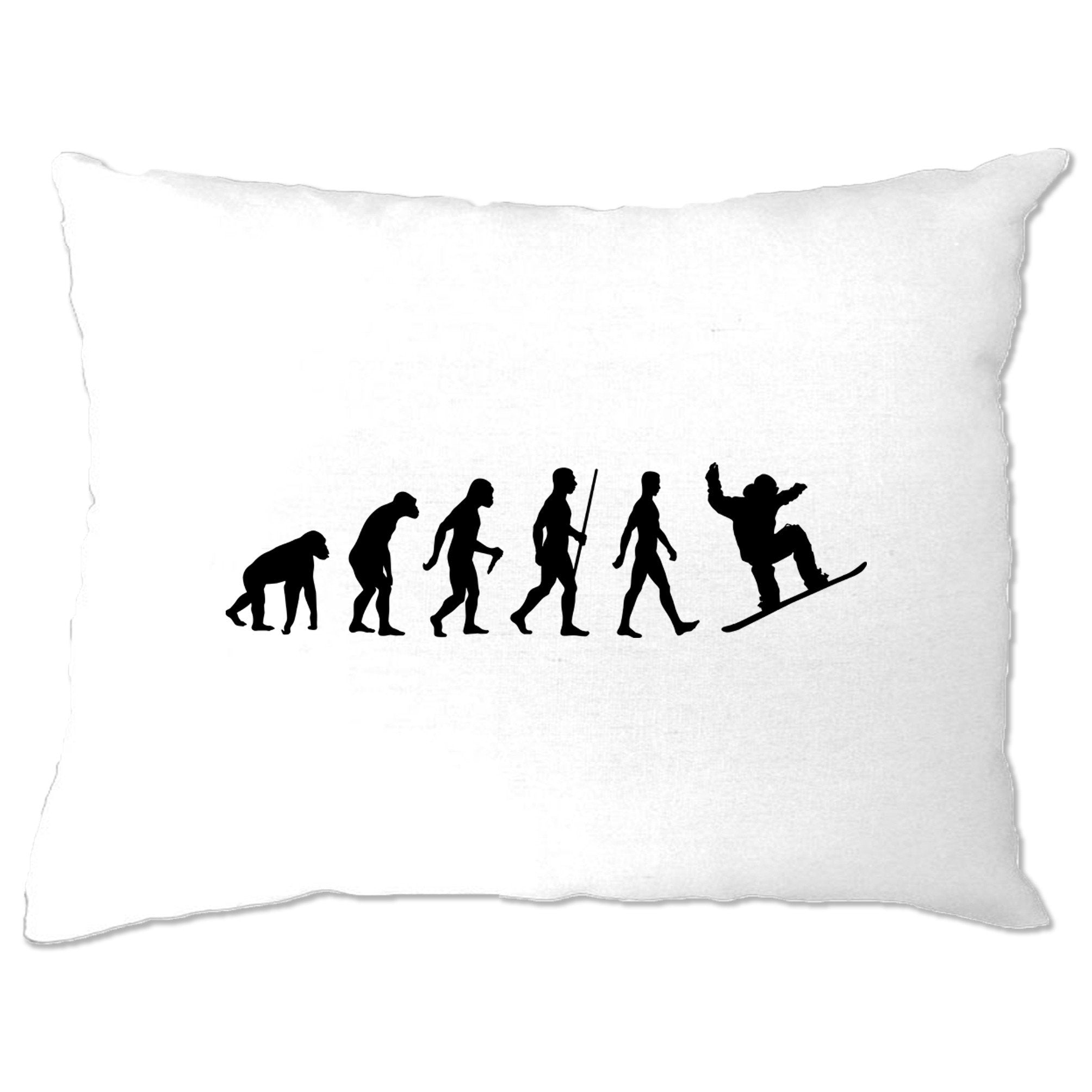 Sports Pillow Case The Evolution Of A Snowboarder