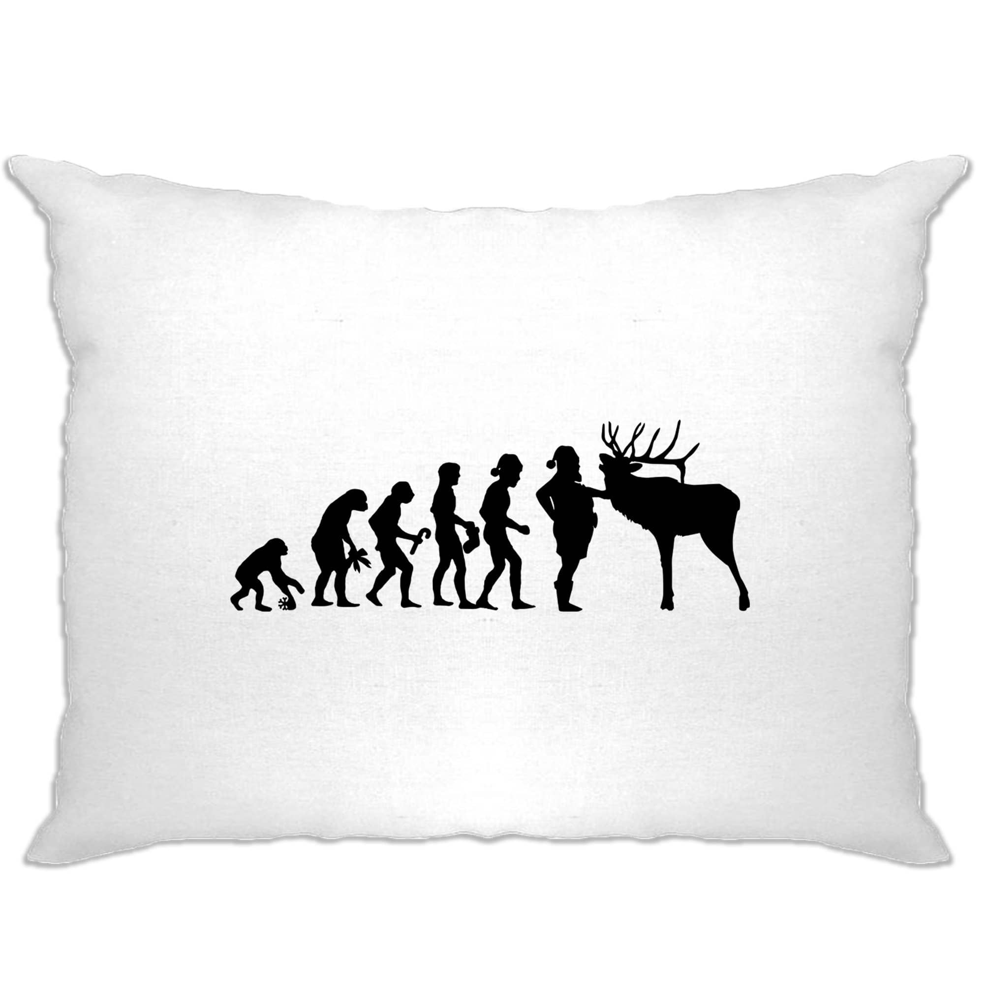 Funny Christmas Pillow Case The Evolution Of Xmas Holiday