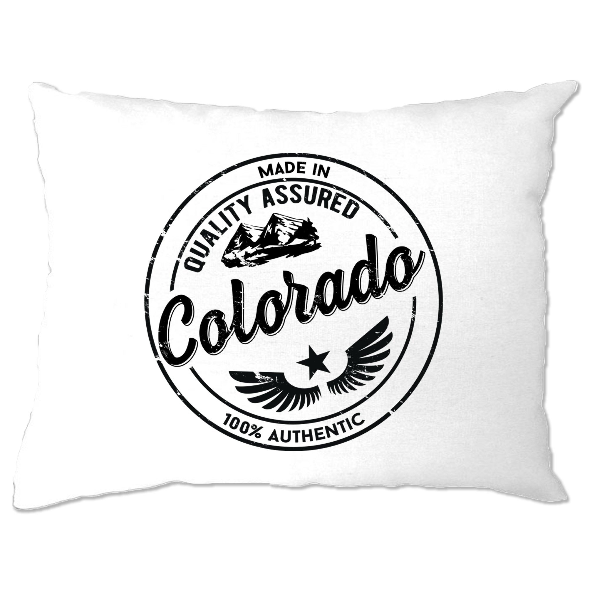 Hometown Pride Pillow Case Made in Colorado Stamp