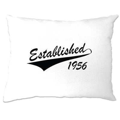 Birthday Pillow Case Established in 1956 Logo