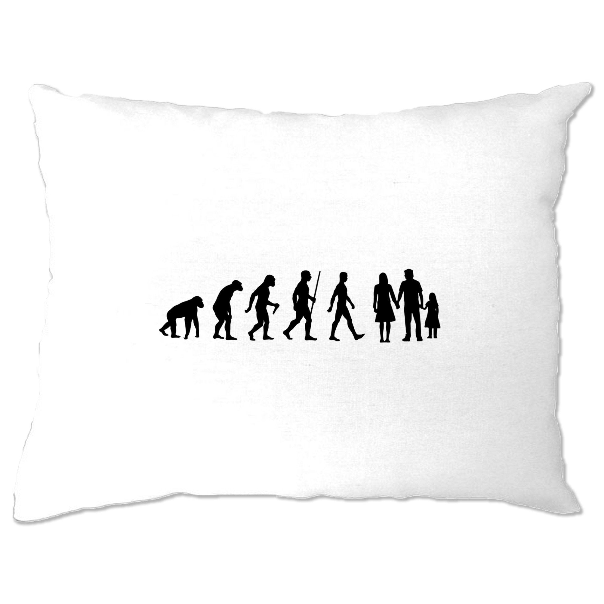Parenthood Pillow Case Evolution Of A Family Two Girls