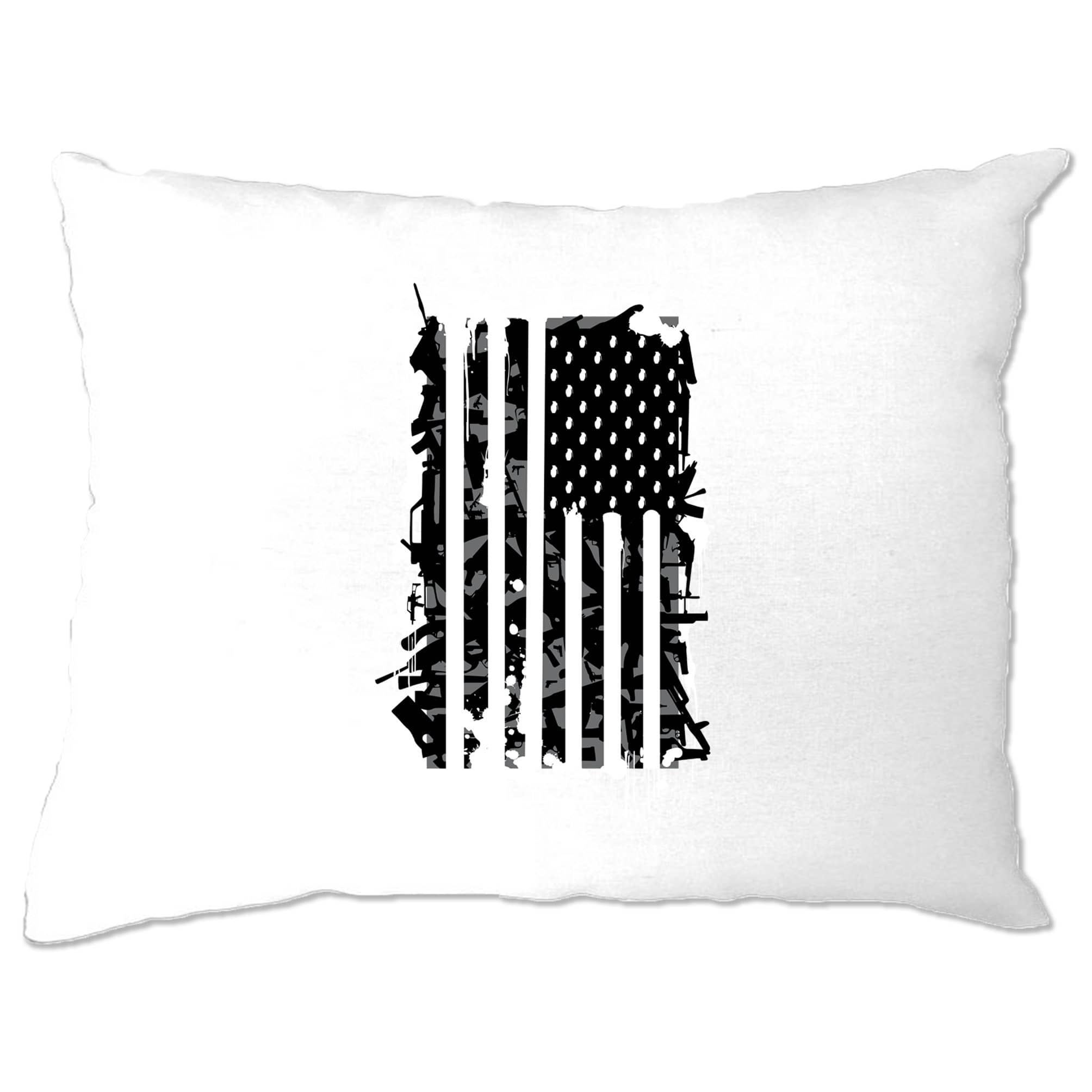 American Flag Pillow Case Stylised with Graffiti