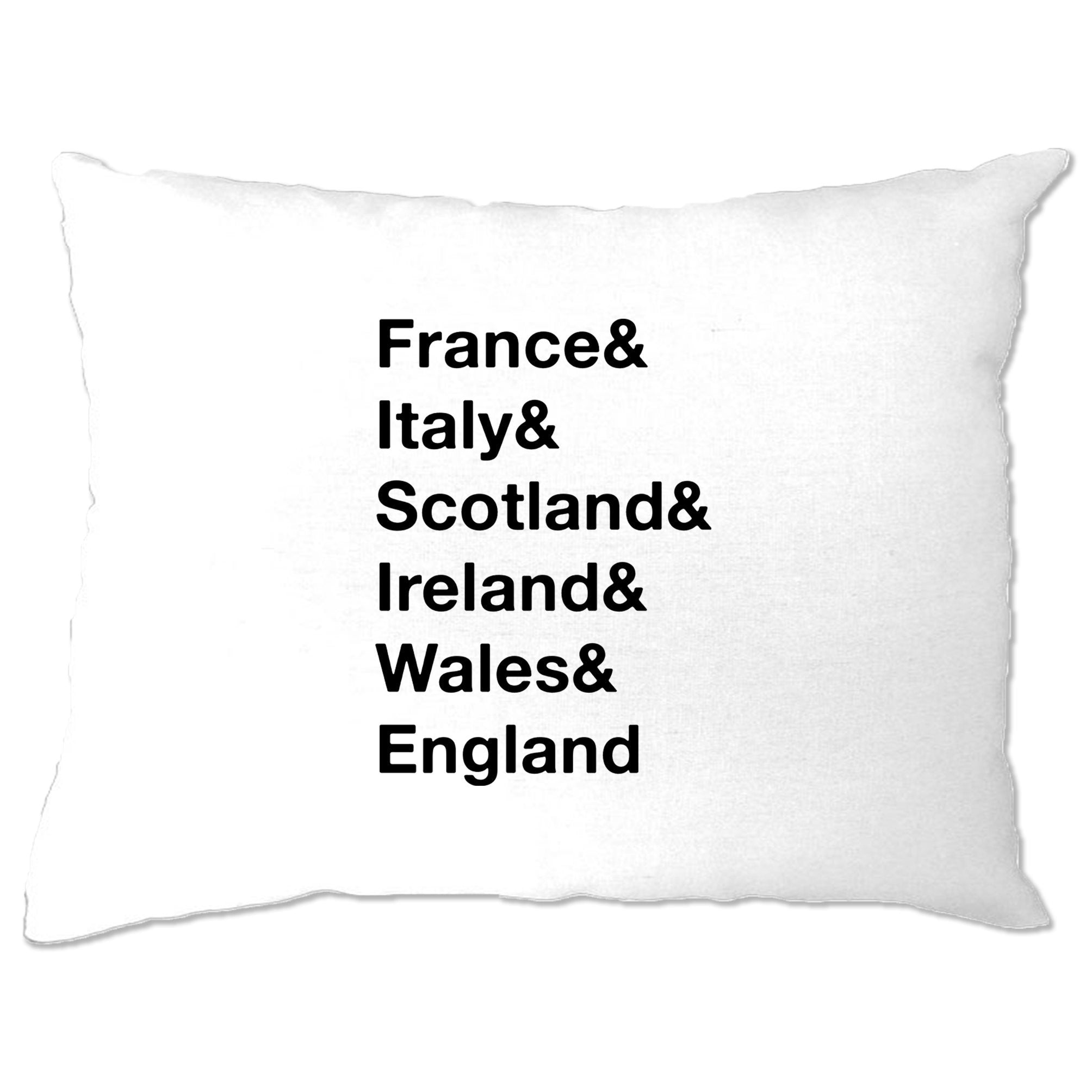 The Six Nations Pillow Case France, Italy, Scotland