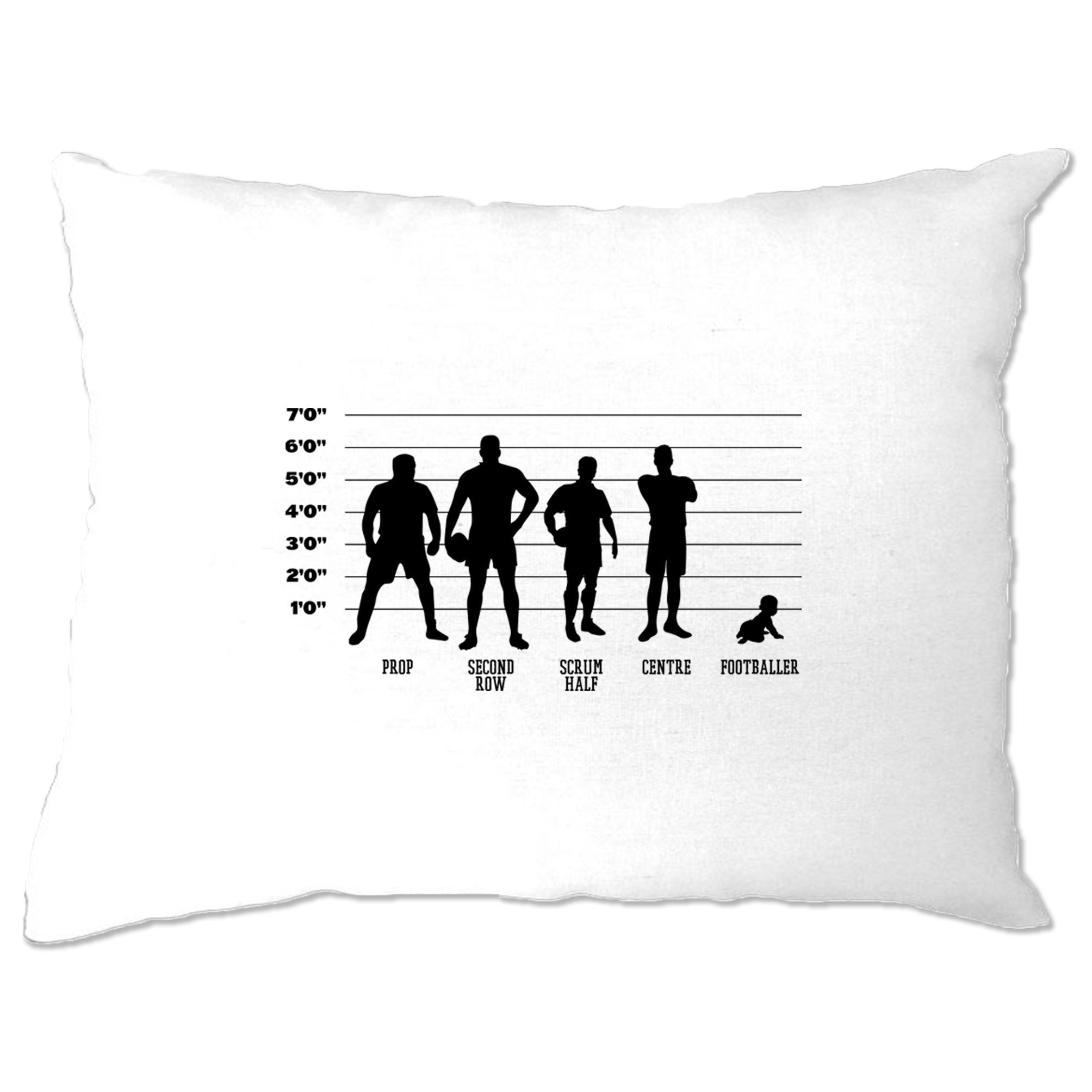 Novelty Sports Pillow Case Rugby Vs Football Baby Lineup
