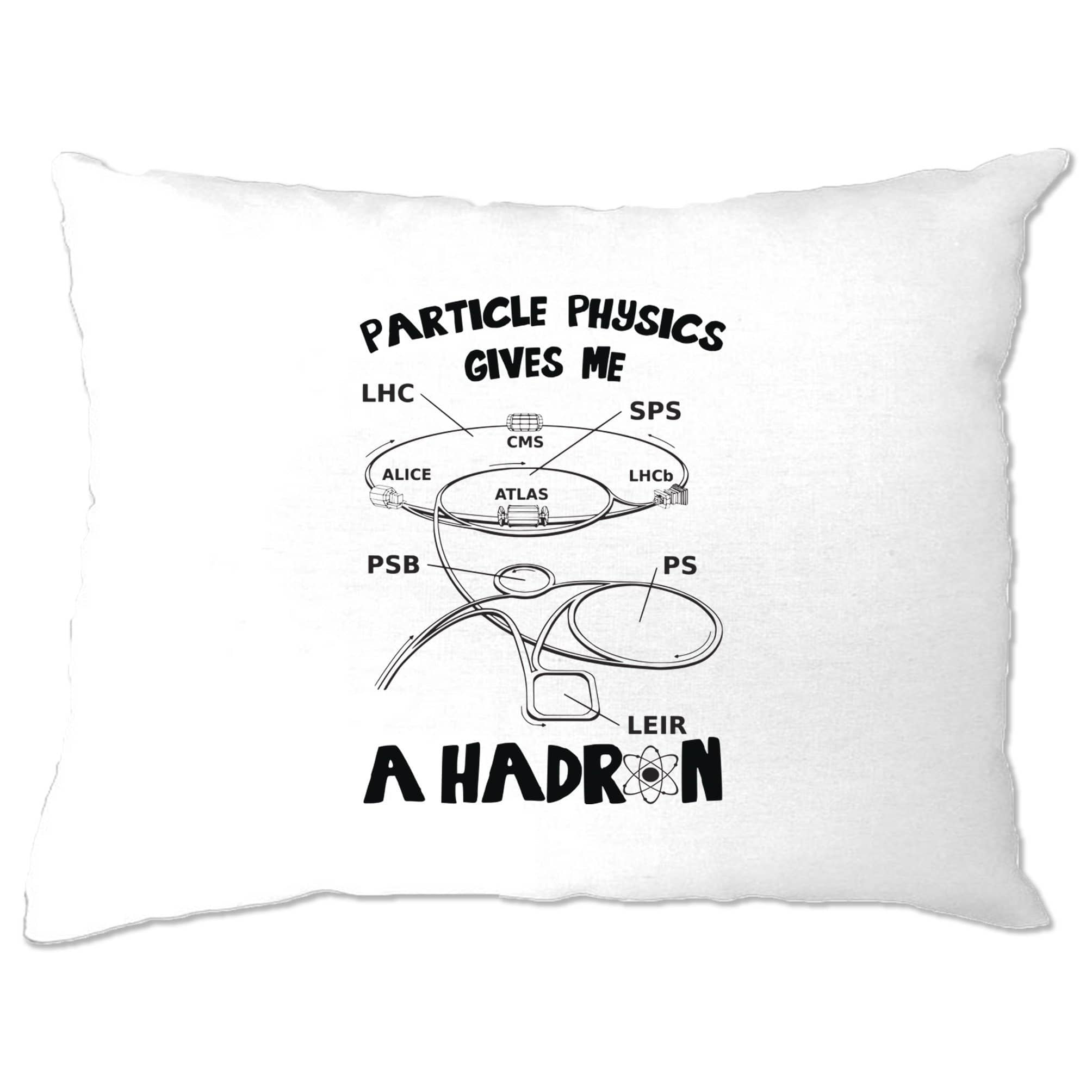 Rude Nerd Pillow Case Particle Physics Gives Me A Hadron