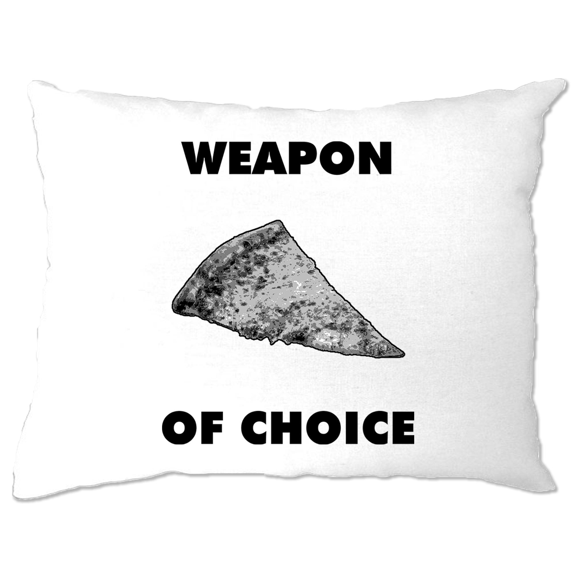 Novelty Food Pillow Case Weapon of Choice Pizza Slice