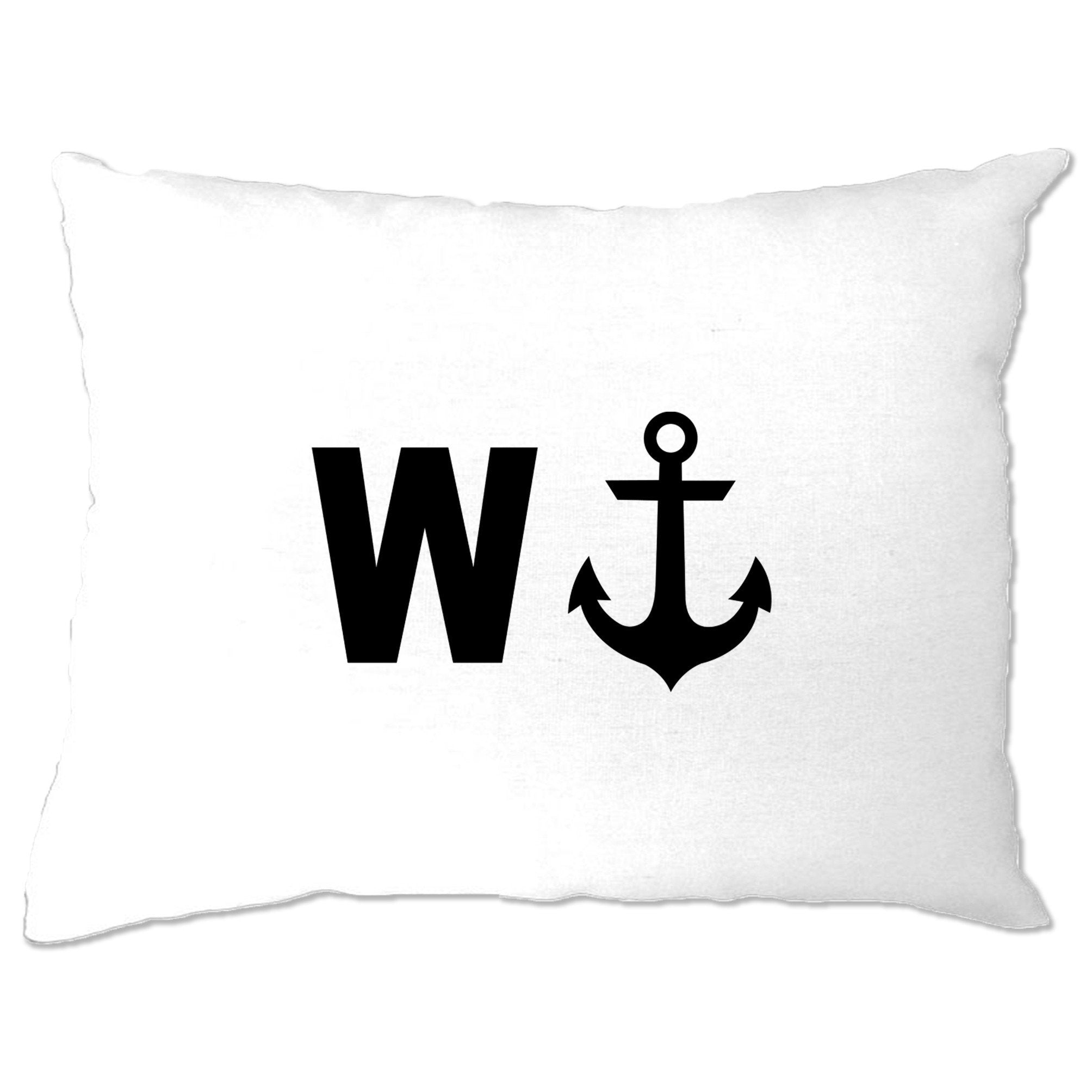 Rude Novelty Pillow Case W And An Anchor